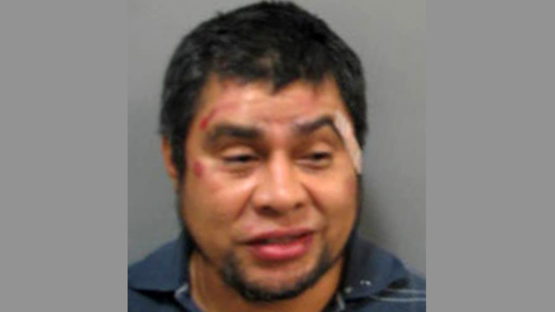 Mug shot for Salvador Gomez-Lopez, who was arrested in Maryland after allegedly urinating in public and slashing a man who told him to stop.