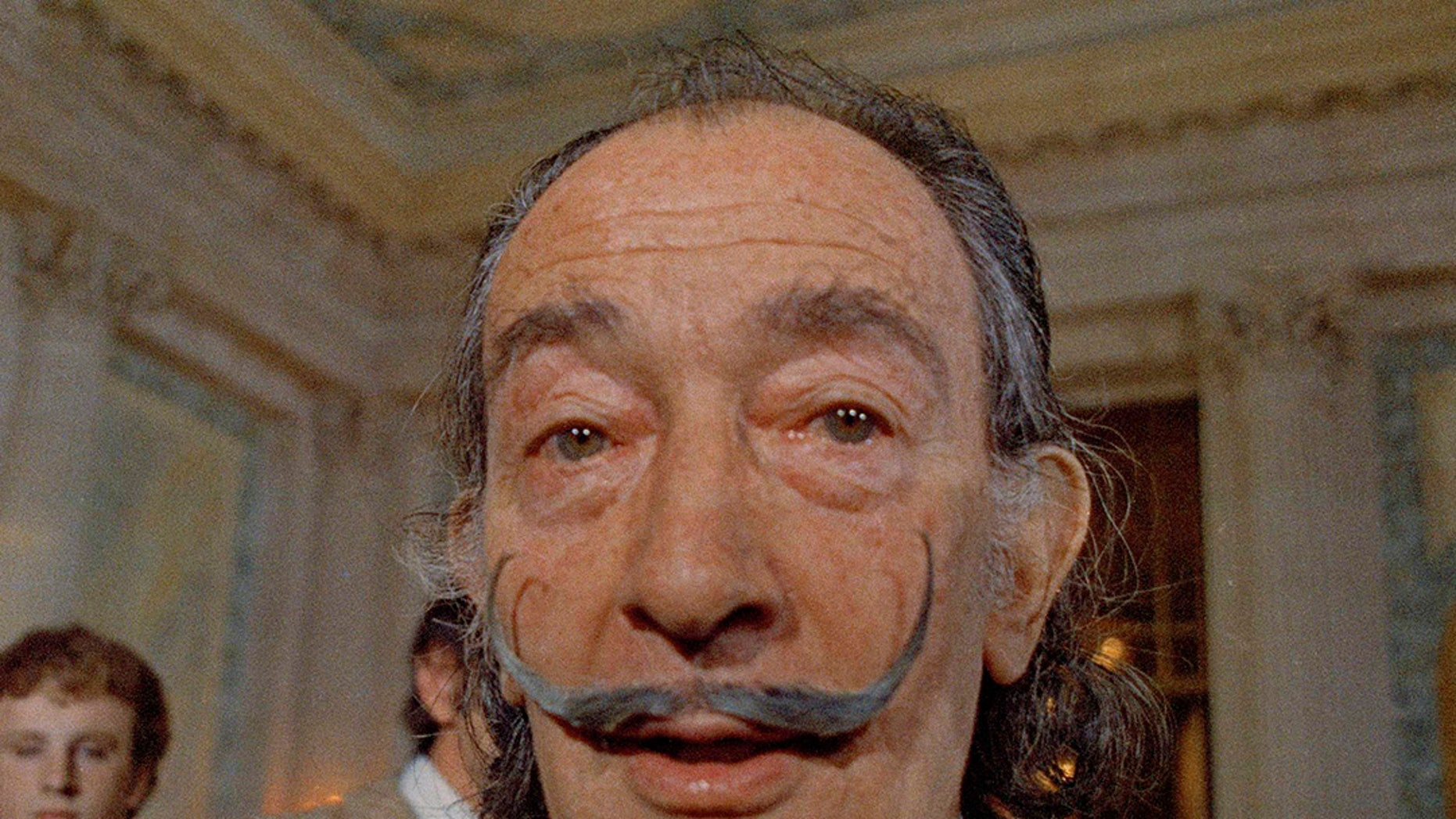 In this May 21, 1973 file photo, Spanish surrealist painter Salvador Dali presents his first Chrono-Hologram in Paris