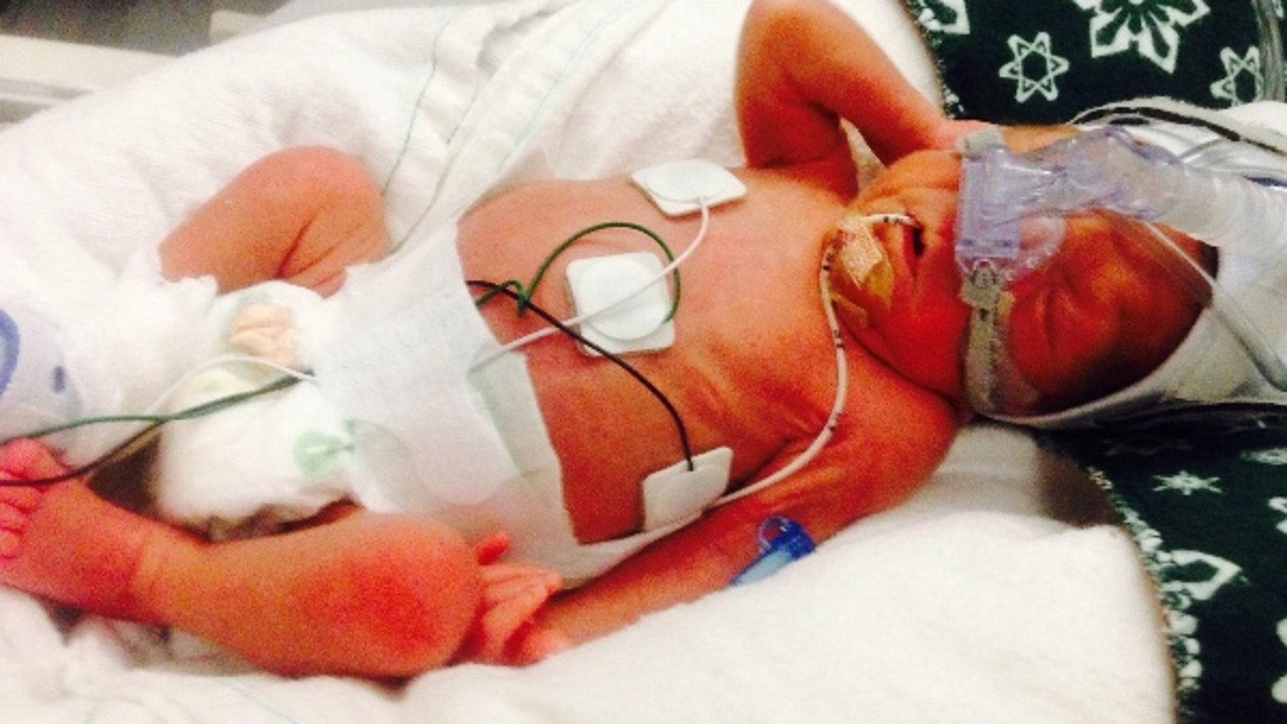 Baby Salvatore, 1 week old.