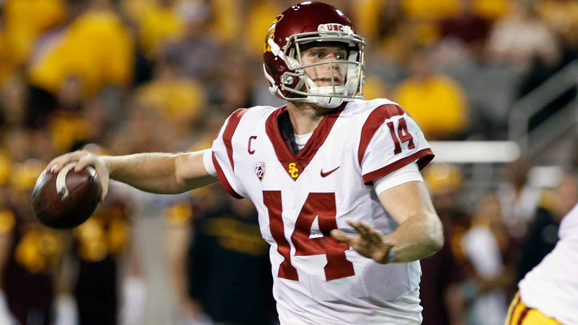 Sam Darnold through for more than 7,000 yards in two seasons quarterbacking USC.