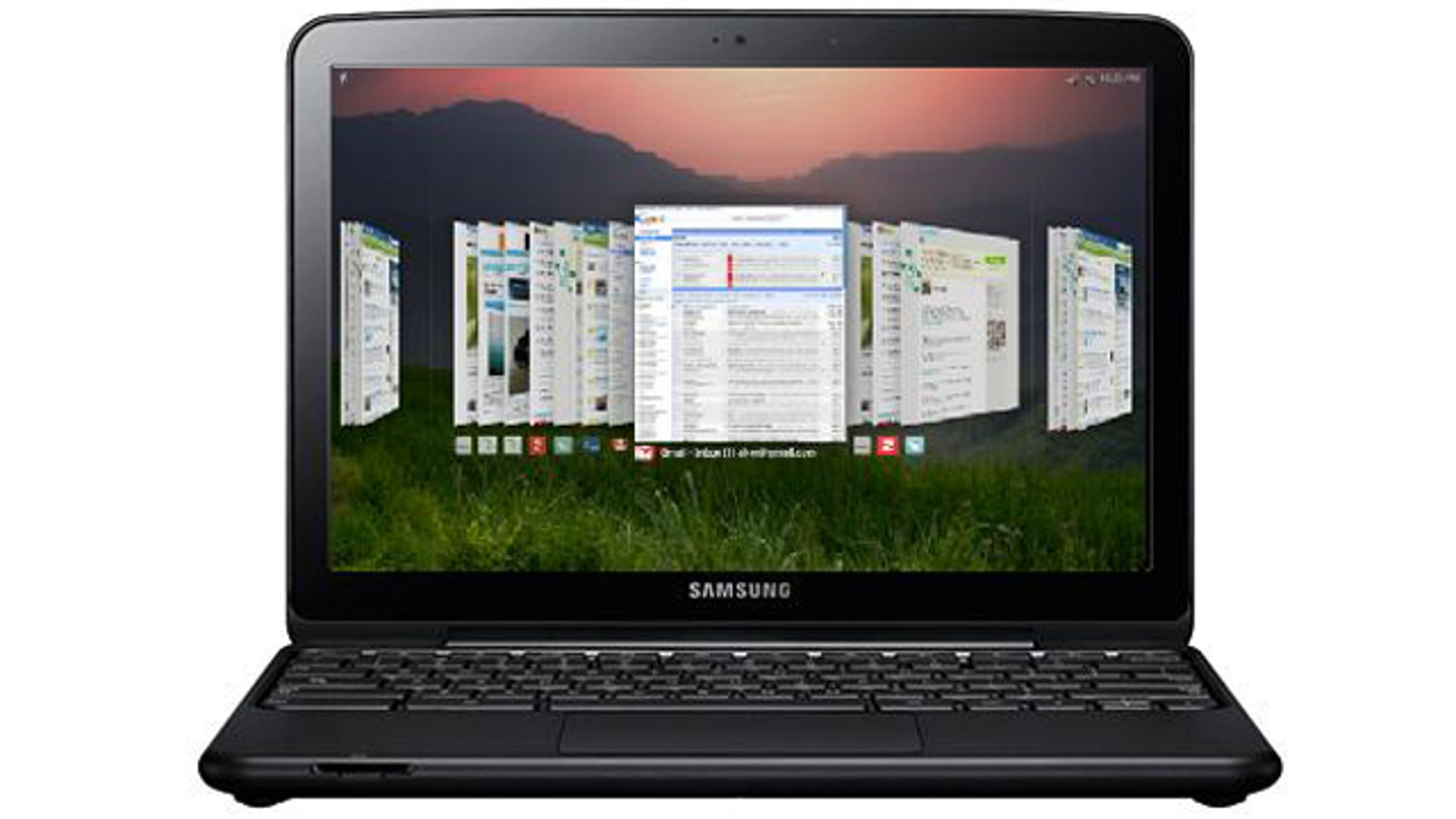 The Samsung Series 5 Chromebook, one of the first notebook computers to run Google's Chrome operating system.
