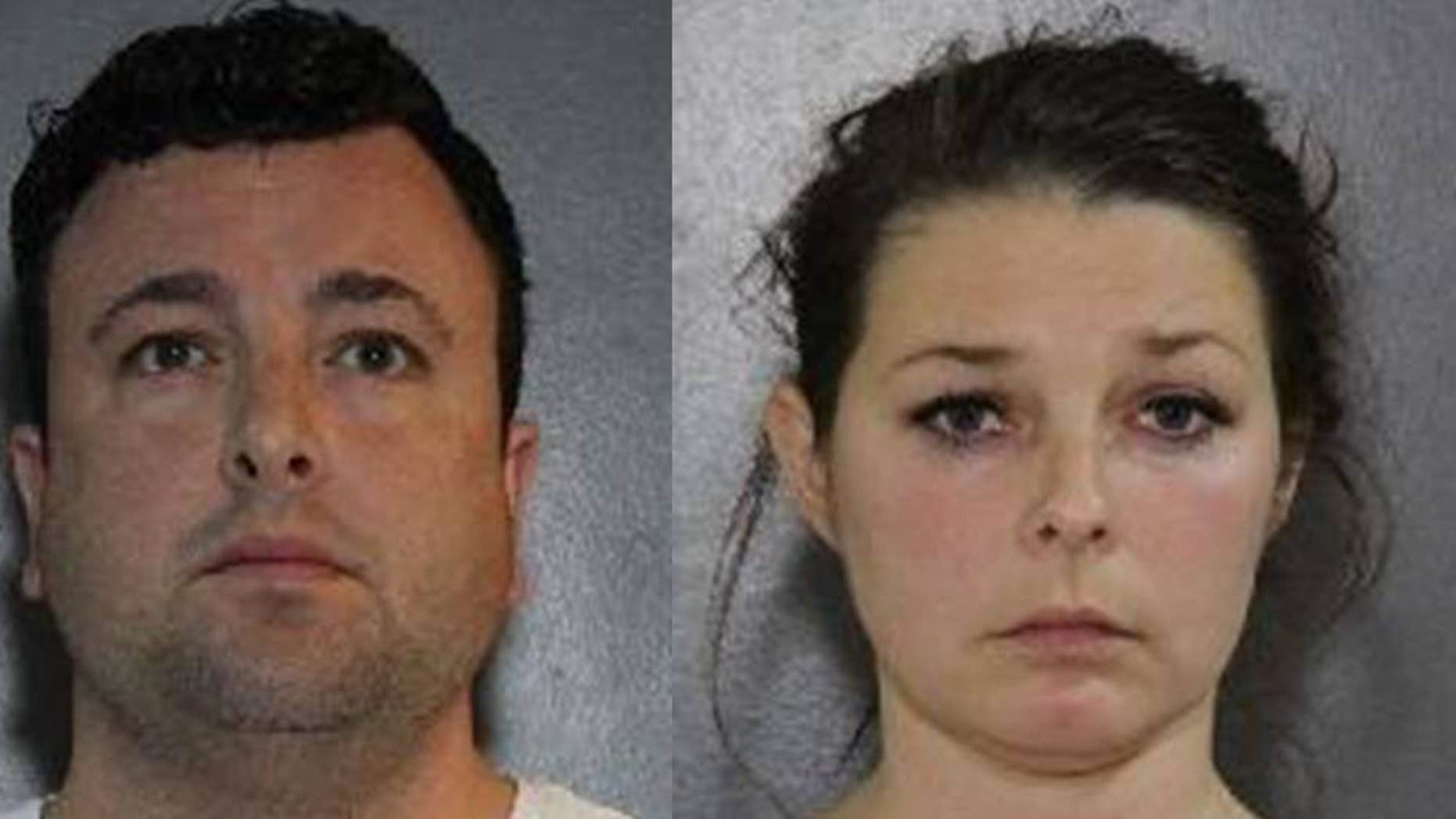 Samuel Emerson, left, and Madelaine Emerson, right, are facing more than two dozen charges after being accused of sexual assault.