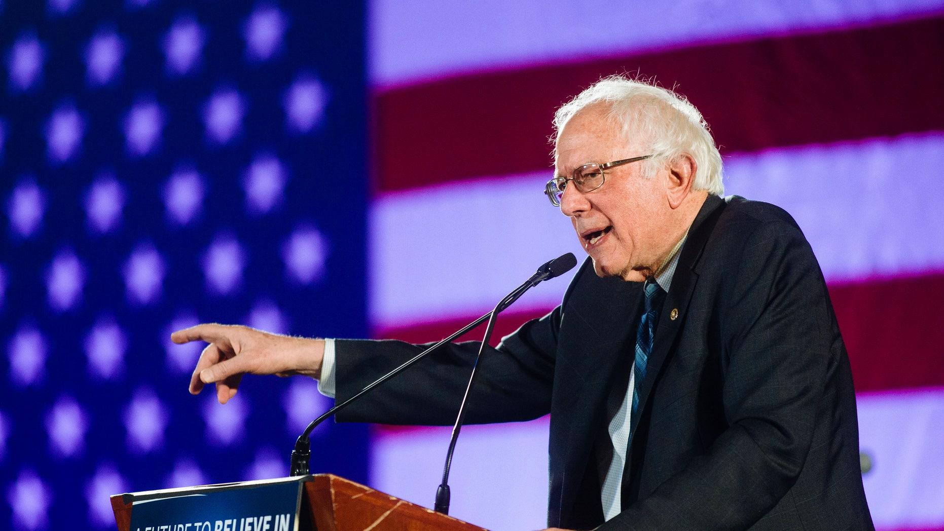 Sanders at the Tropicana Hotel in Las Vegas on Wednesday, Jan. 6, 2016.