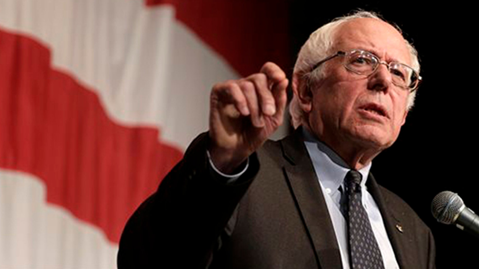 In this Aug. 14, 2015, file photo, Democratic presidential candidate Sen. Bernie Sanders, I-Vt., speaks at the at the Iowa Democratic Wing Ding at the Surf Ballroom in Clear Lake, Iowa. (AP Photo/Charlie Riedel, File)