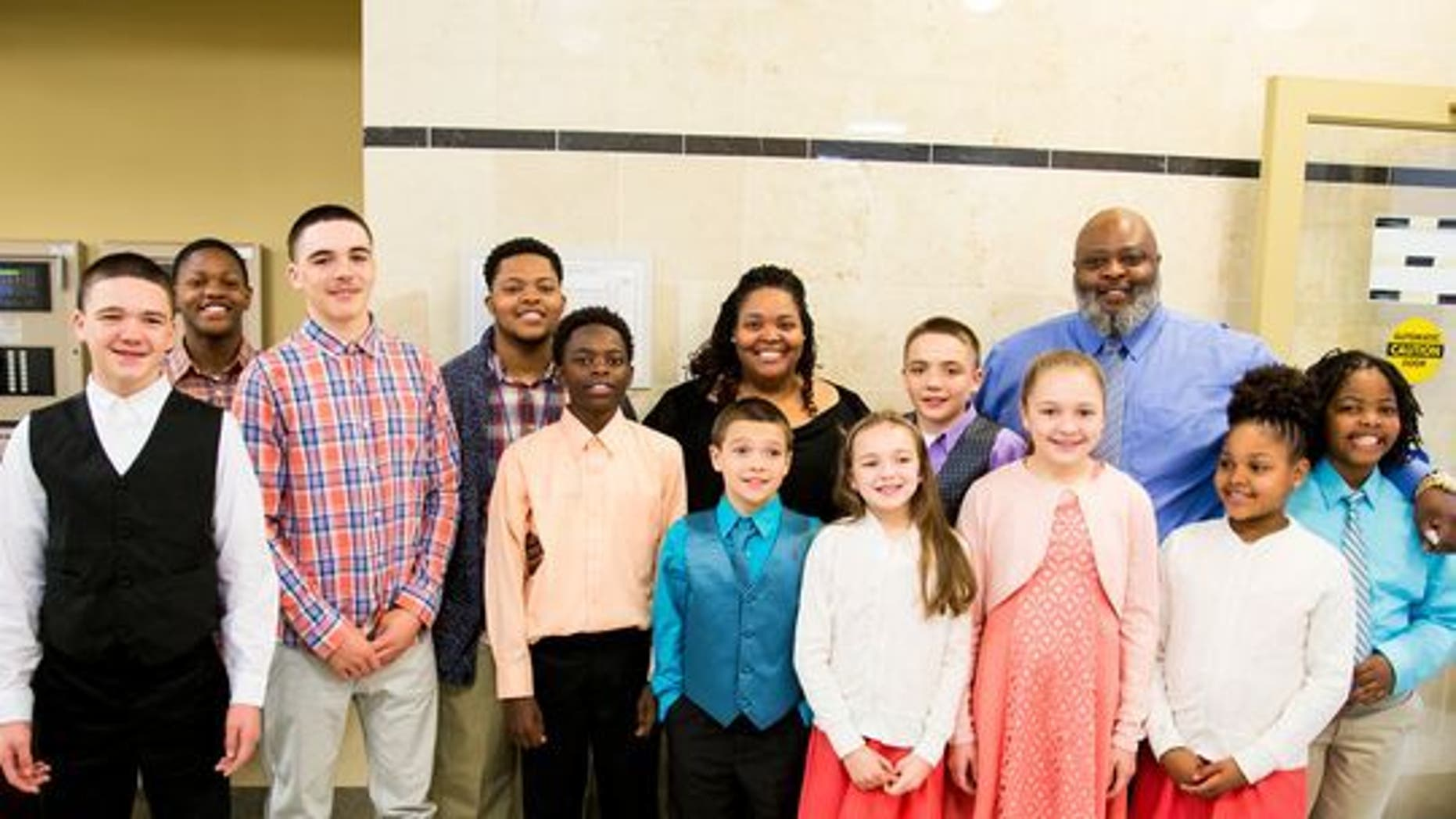 Christopher and Christina Sanders adopted six foster children and now have 11 kids. The adoption was finalized on April 27, 2017.