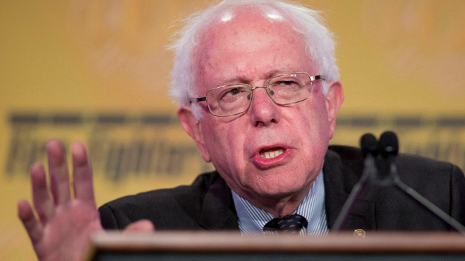 Sen. Bernie Sanders on March 10, 2015 in Washington, DC.