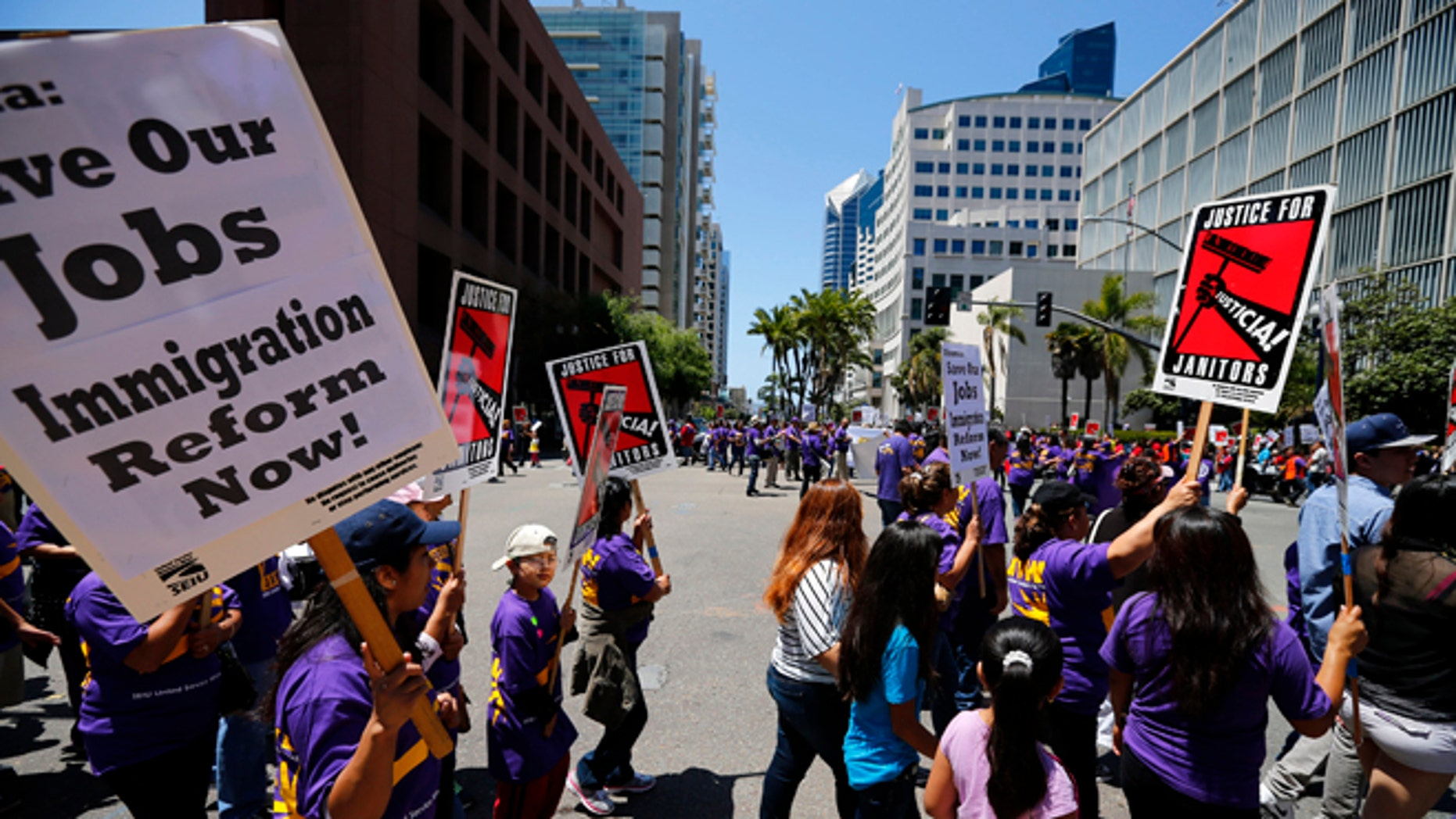 April 26, 2013: Immigrant families, workers and supporters march in San Diego.