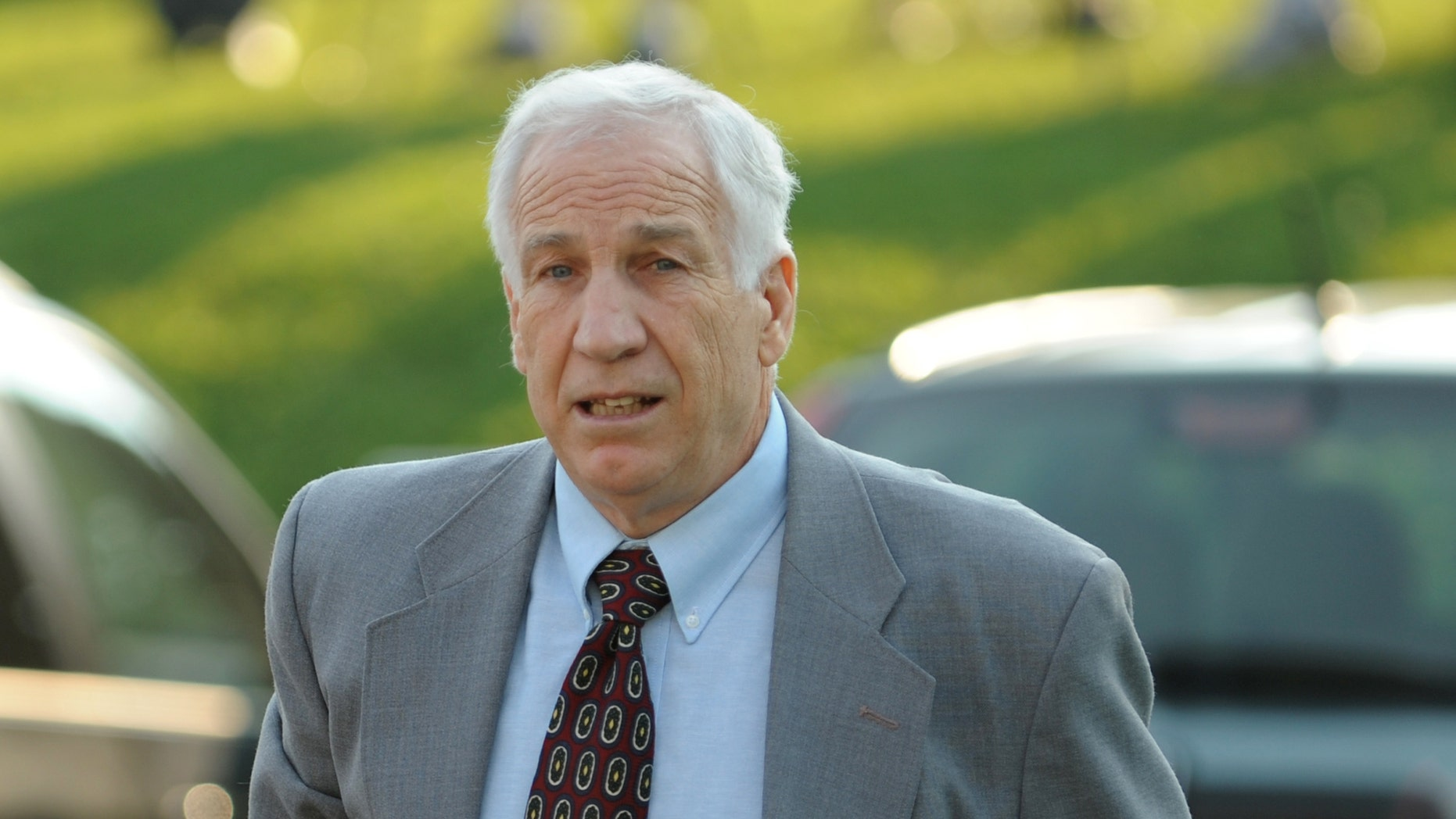 June 21: Jerry Sandusky arrives for closing arguments of his sexual abuse trial, at the Centre County Courthouse, in Bellefonte, Pa.