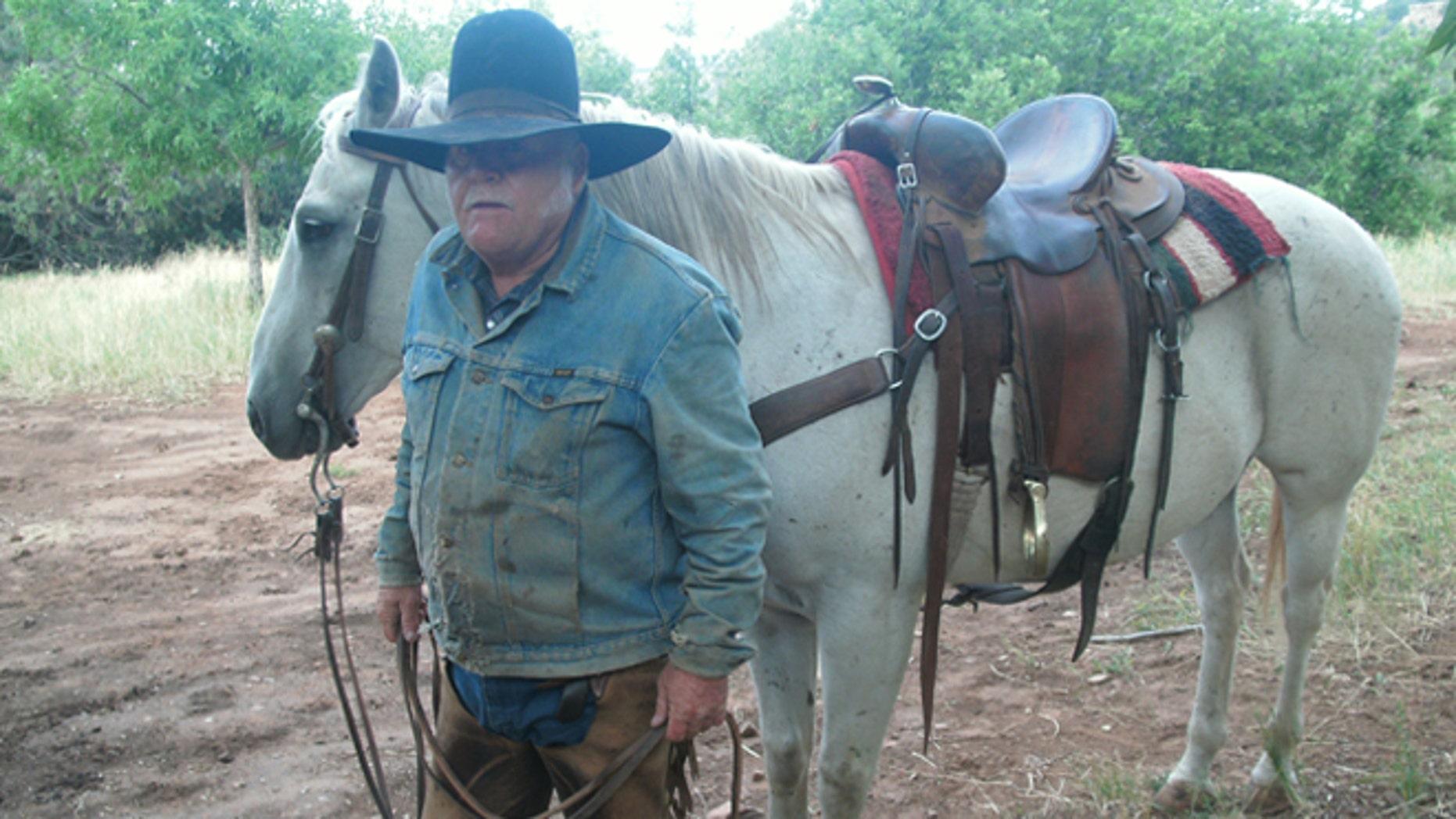 Rancher Sandy Johnson in San Juan County, Utah.