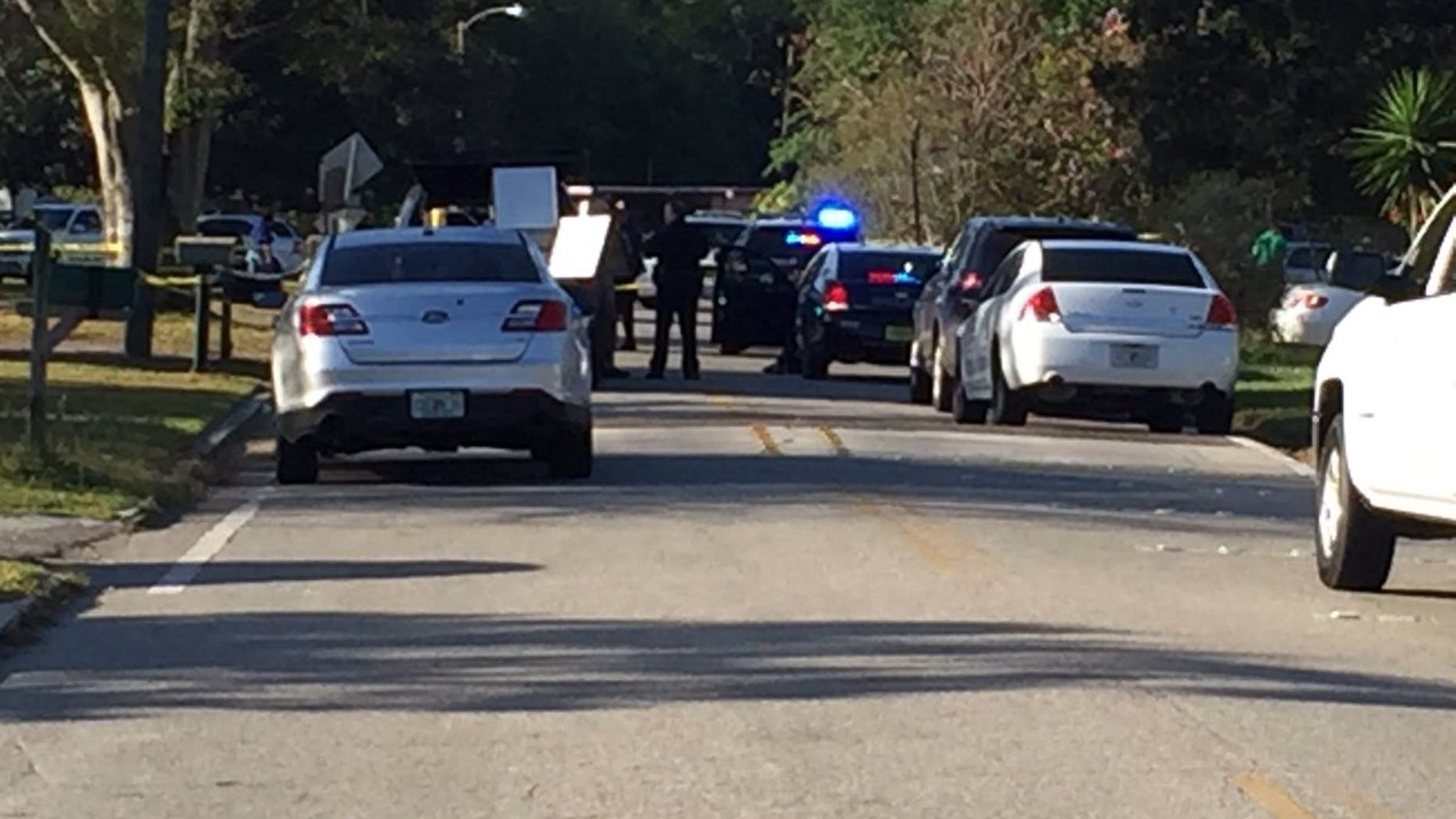 The scene of the shootings in Sanford.