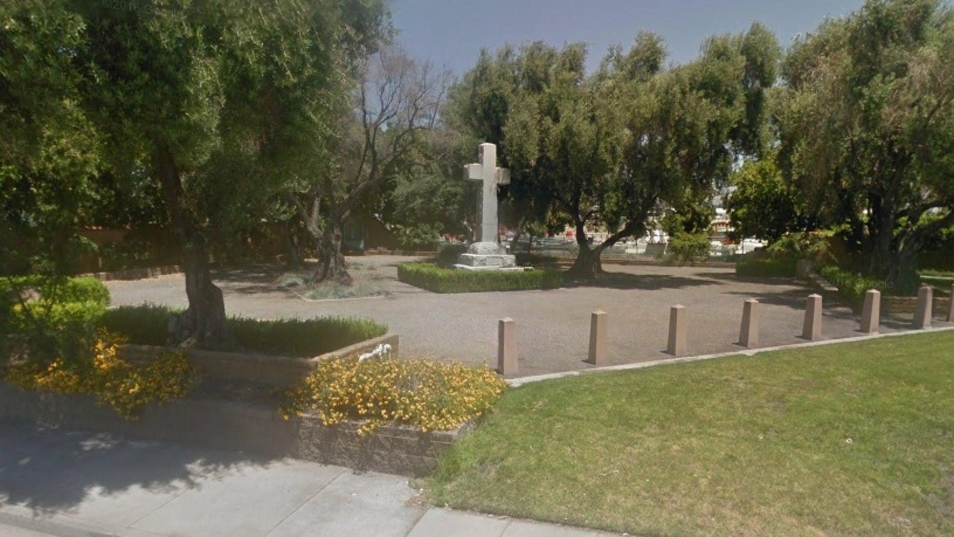 Memorial Cross Park in Santa Clara.