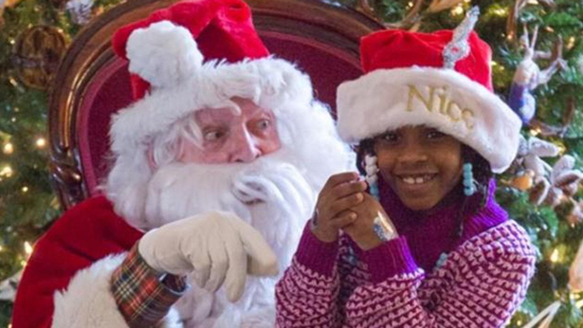 Cassie, 6, got her wish to meet Santa Claus.