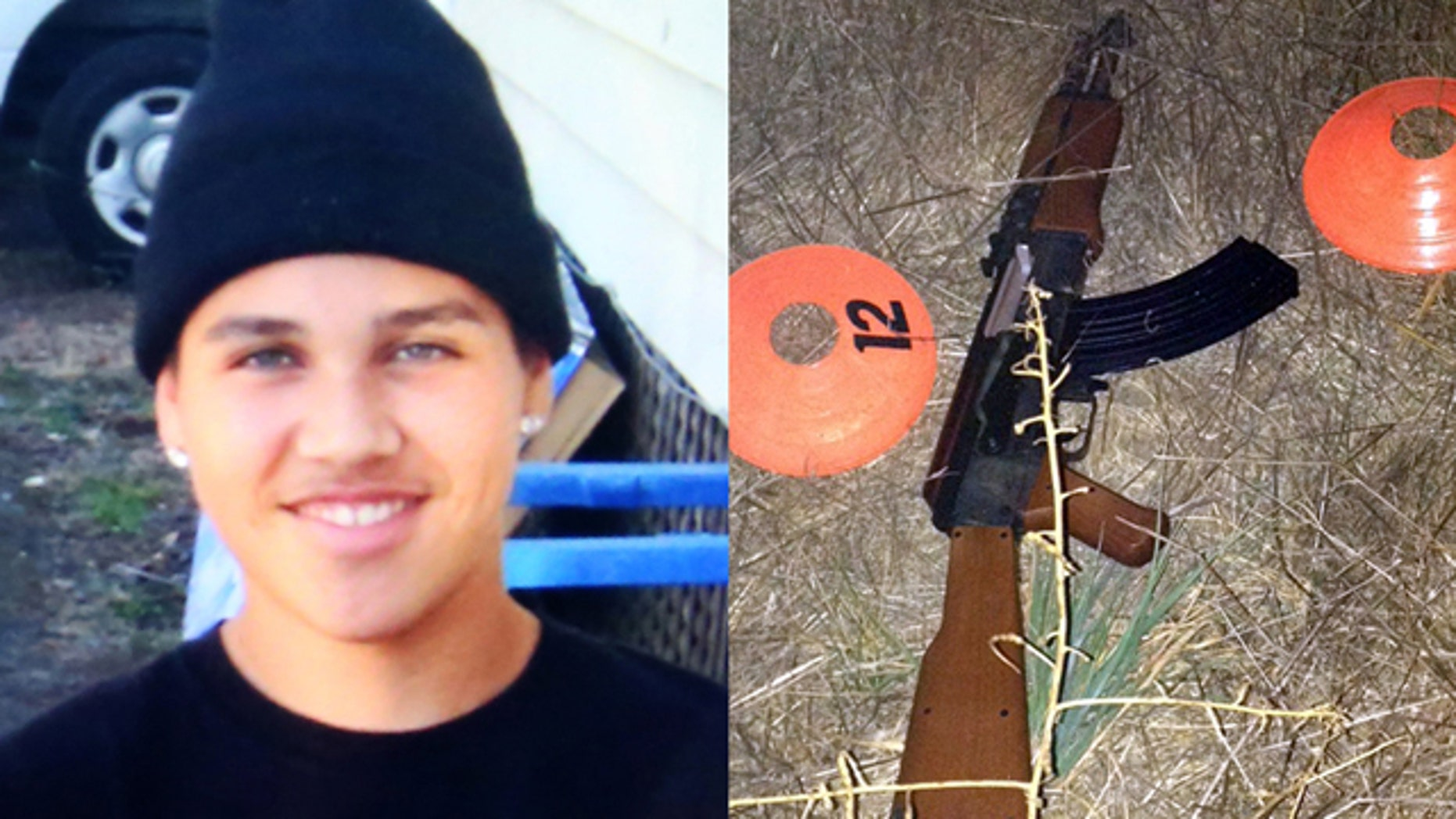 13-year-old Andy Lopez and the toy assault rifle that he was carrying when he was shot dead in Santa Rosa.