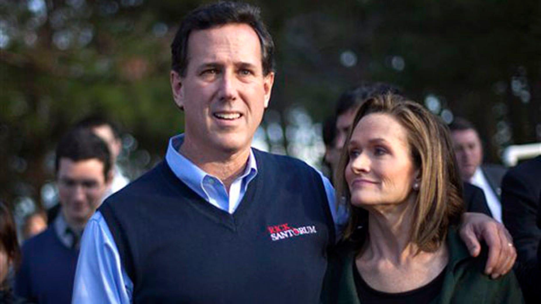 Jan. 16, 2012: Rick Santorum and his wife Karen leave the Faith and Freedom Coalition rally in Myrtle Beach, S.C.