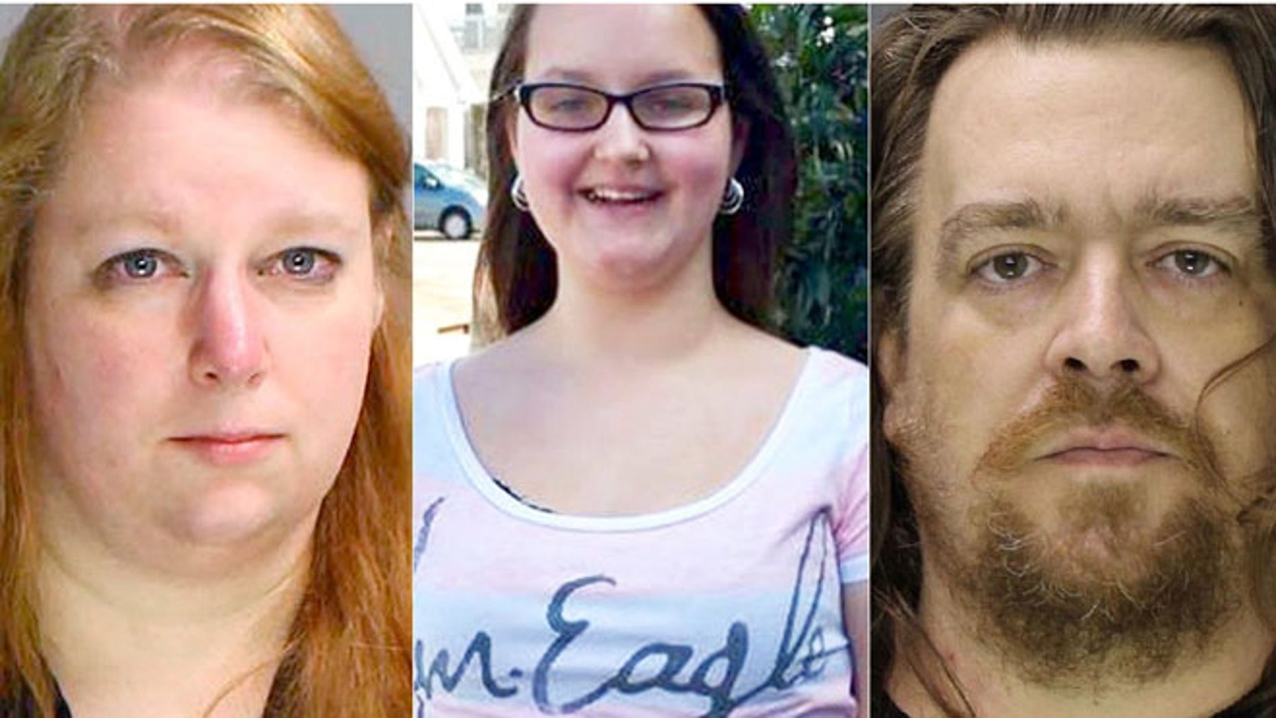 Photos of Sara Packer, 41, Grace Packer, 14, and Jacob Sullivan, 44. (Bucks County Prosecutor's Office)