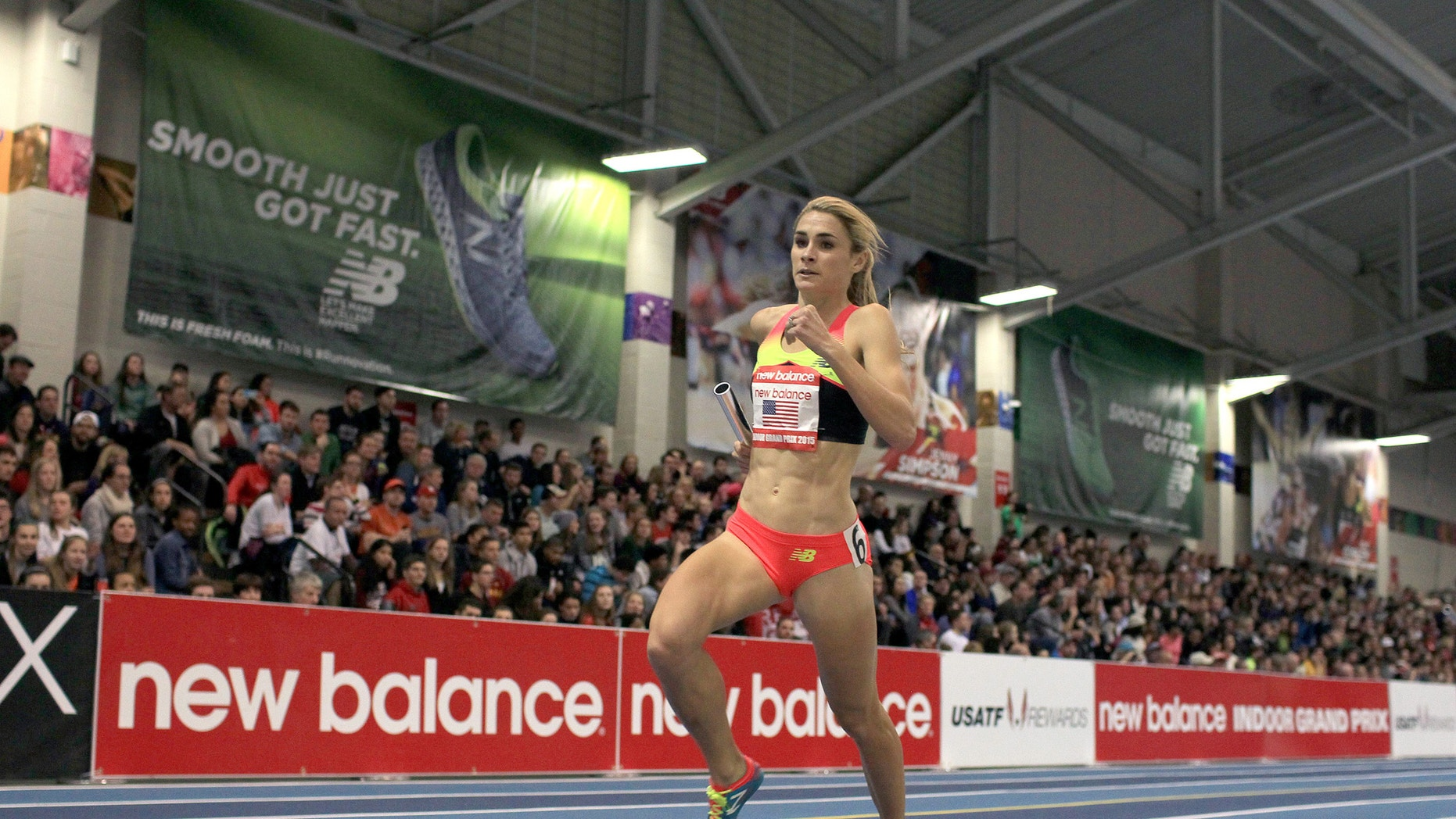 Sarah Brown competes in the New Balance Indoor Grand Prix in Boston on February 7, 2015. Photo courtesy of New Balance.