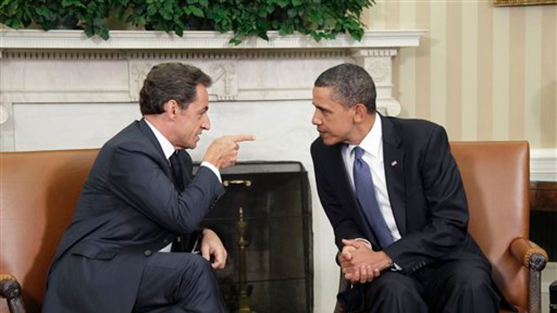 Monday: President Obama meets with French President Nicolas Sarkozy in the Oval Office of the White House.