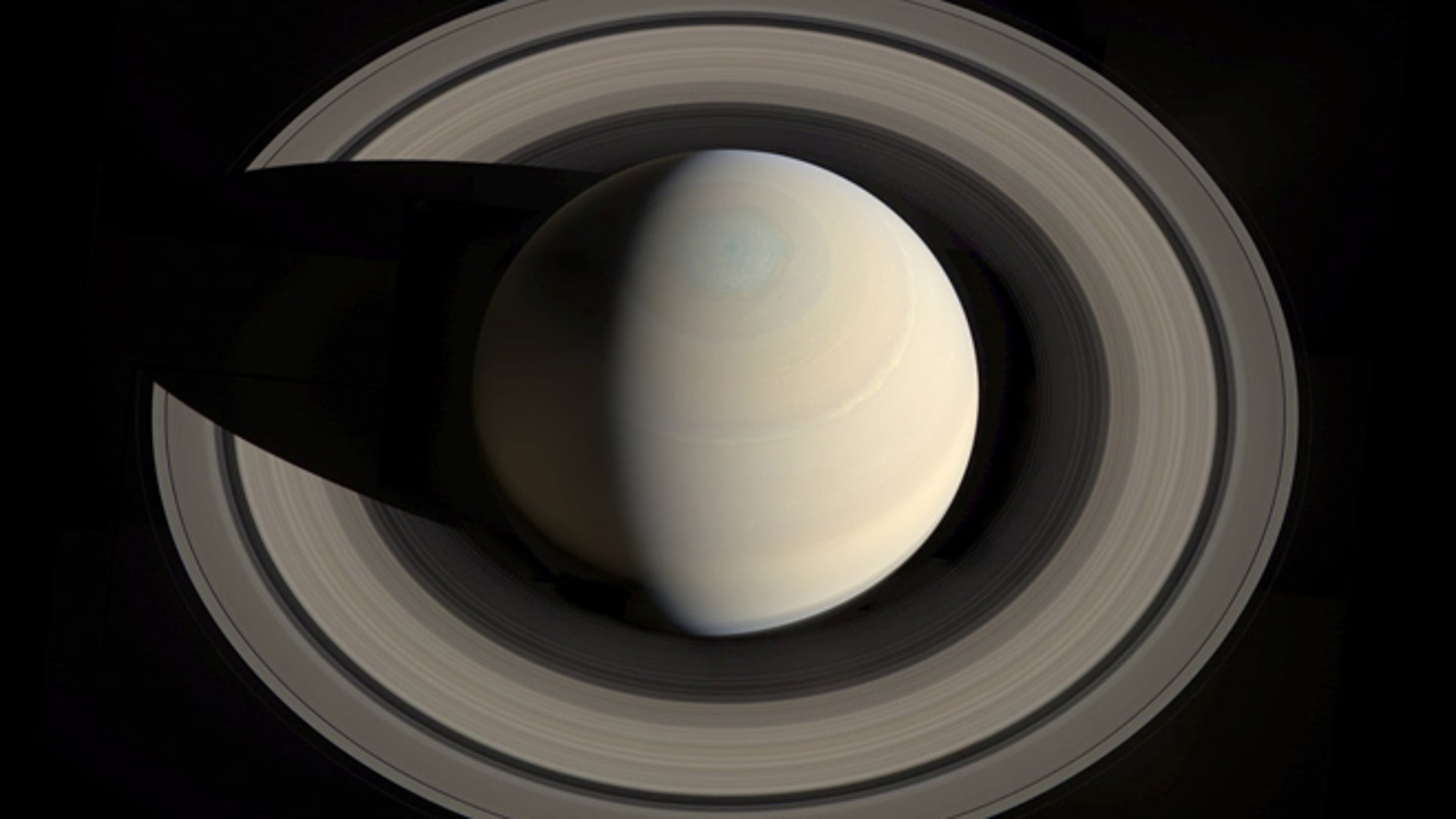 An amazing view of all of Saturn and its rings, assembled by Gordan Ugarkovic.