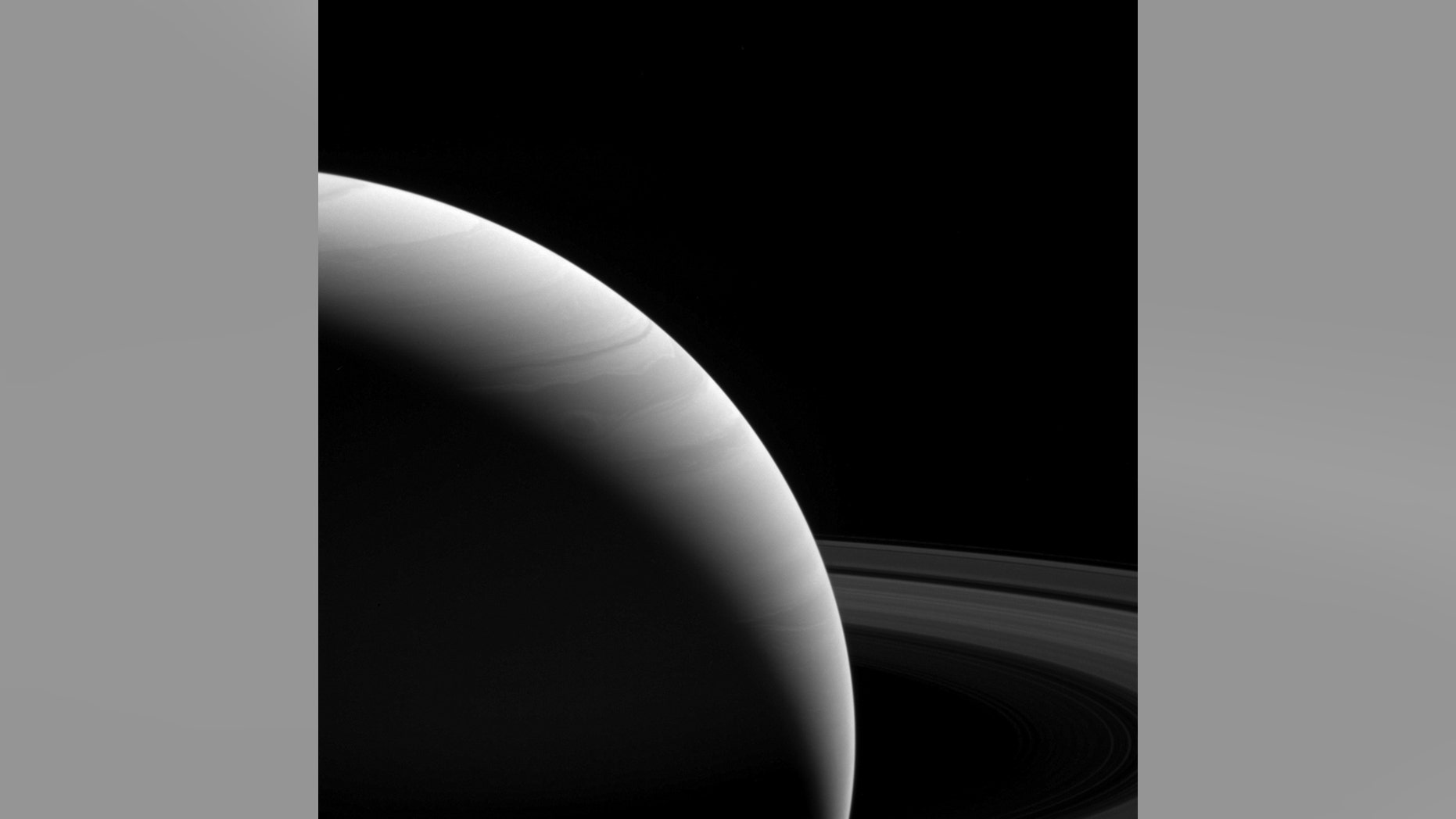 NASA's Cassini spacecraft captured this view of Saturn on Feb. 25, 2017, from a distance of 762,000 miles (1.23 million kilometers).