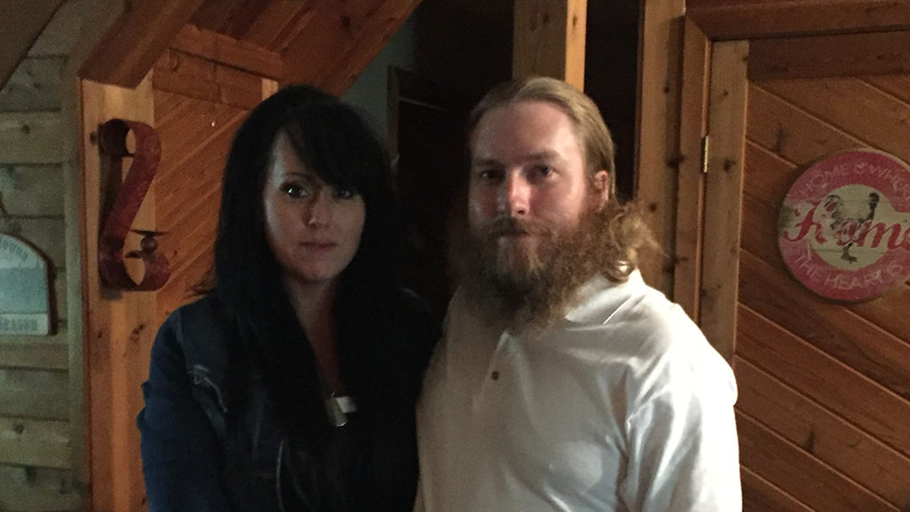 Sadie and Kristian Saucier at their home in Vermont. Kristian Saucier has been released after serving a one-year sentence at a federal prison in Massachusetts.