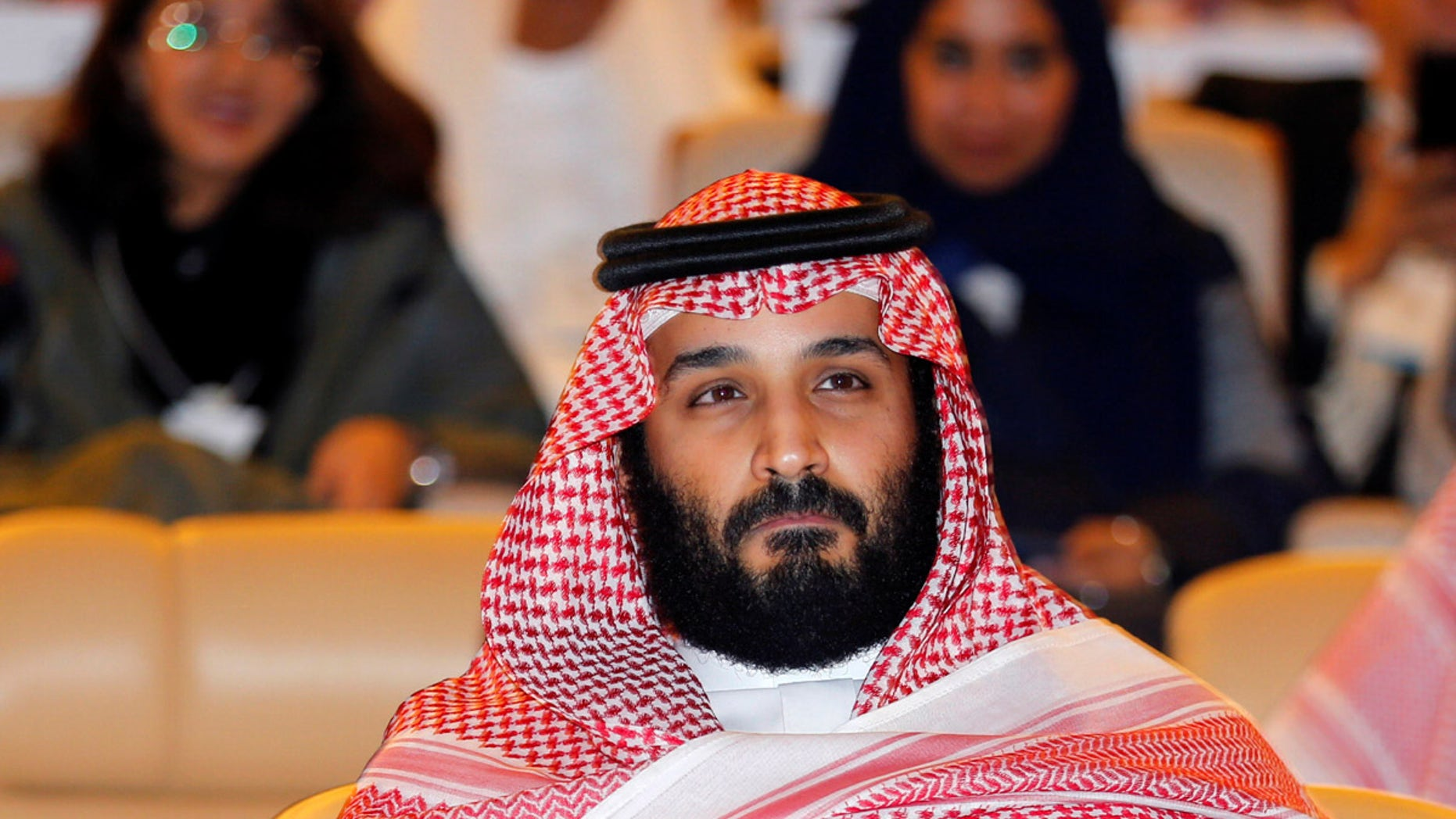 Saudi Crown Prince Mohammed bin Salman attends the Future Investment initiative conference in Riyadh, Saudi Arabia, Oct. 24, 2017.