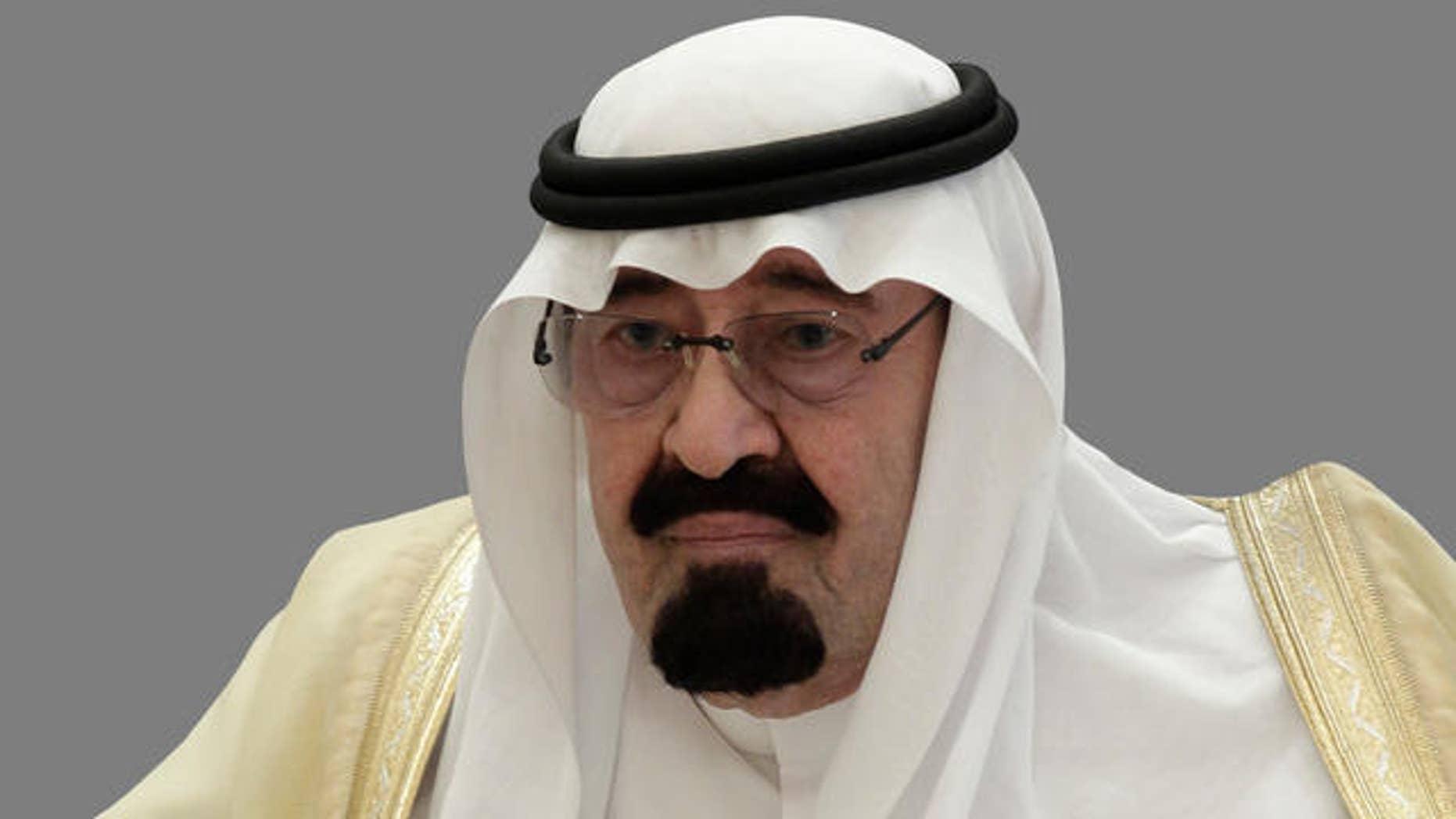 May 14, 2012 - FILE photo of King Abdullah Bin Abdull-Aziz Al-Saud of Saudi Arabia.