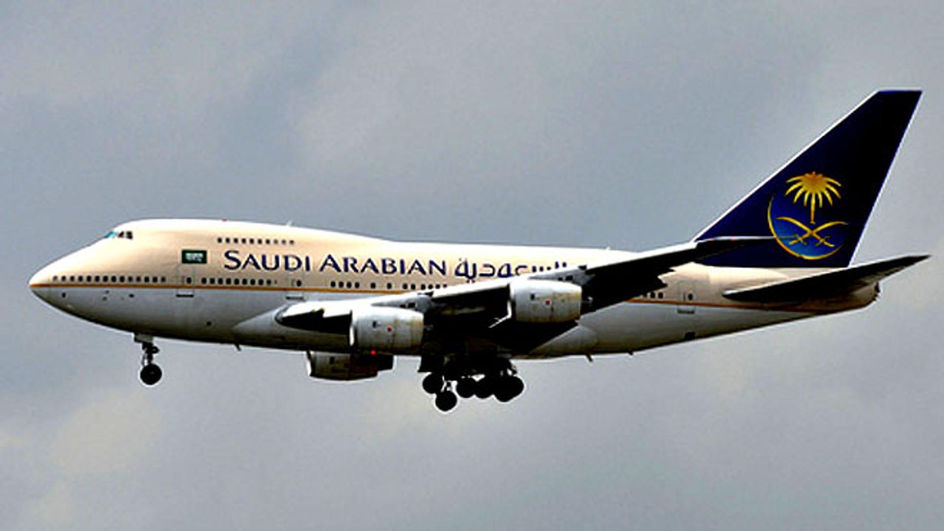FILE: Saudi Arabia airlines.
