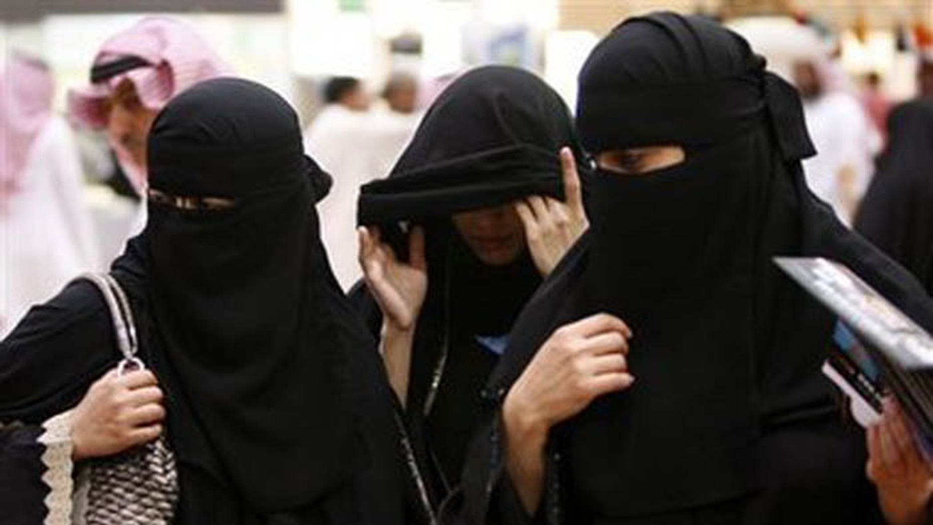 Saudi women are pictured in this undated photo. A Lebanese man was sentenced to 300 lashes with a whip and six years in prison for his role in helping a Saudi woman convert to Christianity and flee the kingdom in the latest example of the religious intolerance that grips the region.