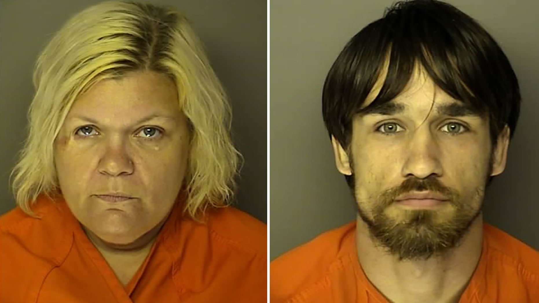 Jenny Lynn Paradis, 43, and Joshua Palmer Vaught, 22, were arrested Monday when Paradis' two children were found living in squalor, according to a police report.