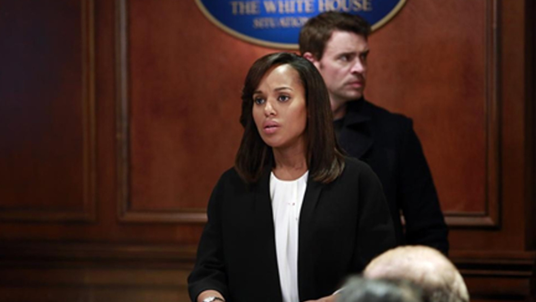 """This image released by ABC shows actress Kerry Washington in a scene from """"Scandal."""" The series airs Thursdays at 10 p.m. EST on ABC."""