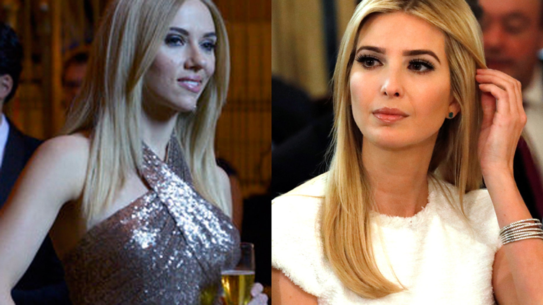 "Scarlett Johansson (left) plays Ivanka Trump (right) in a skit on ""Saturday Night Live."""
