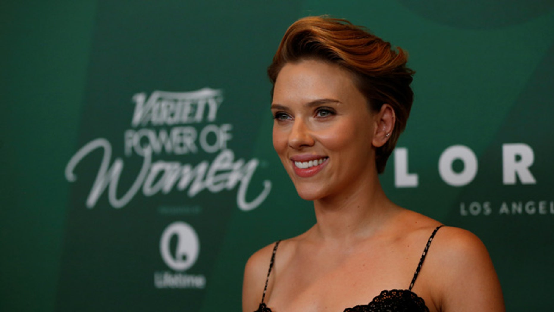 Scarlett Johansson at Variety's Power of Luncheon in Beverly Hills on October 14, 2016.