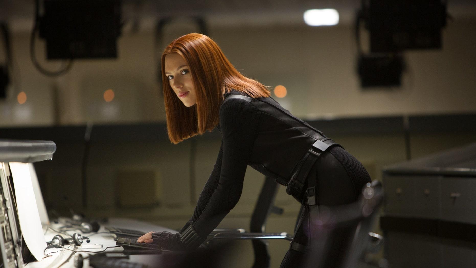 "Scarlett Johansson in a scene from the film, ""Captain America: The Winter Soldier."""