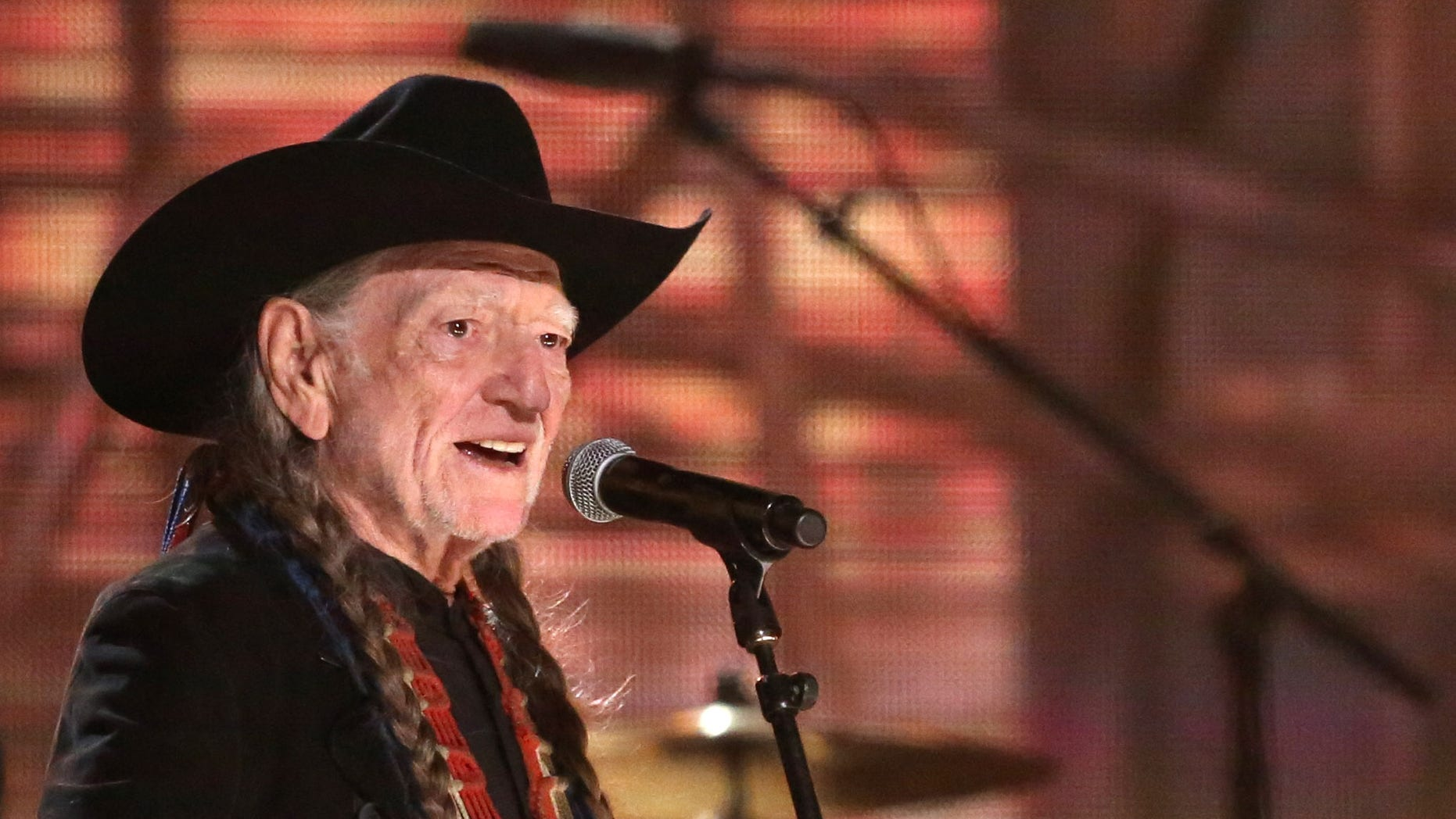 Willie Nelson performs on stage at the 56th annual Grammy Awards at Staples Center on Sunday, Jan. 26, 2014, in Los Angeles. (Photo by Matt Sayles/Invision/AP)