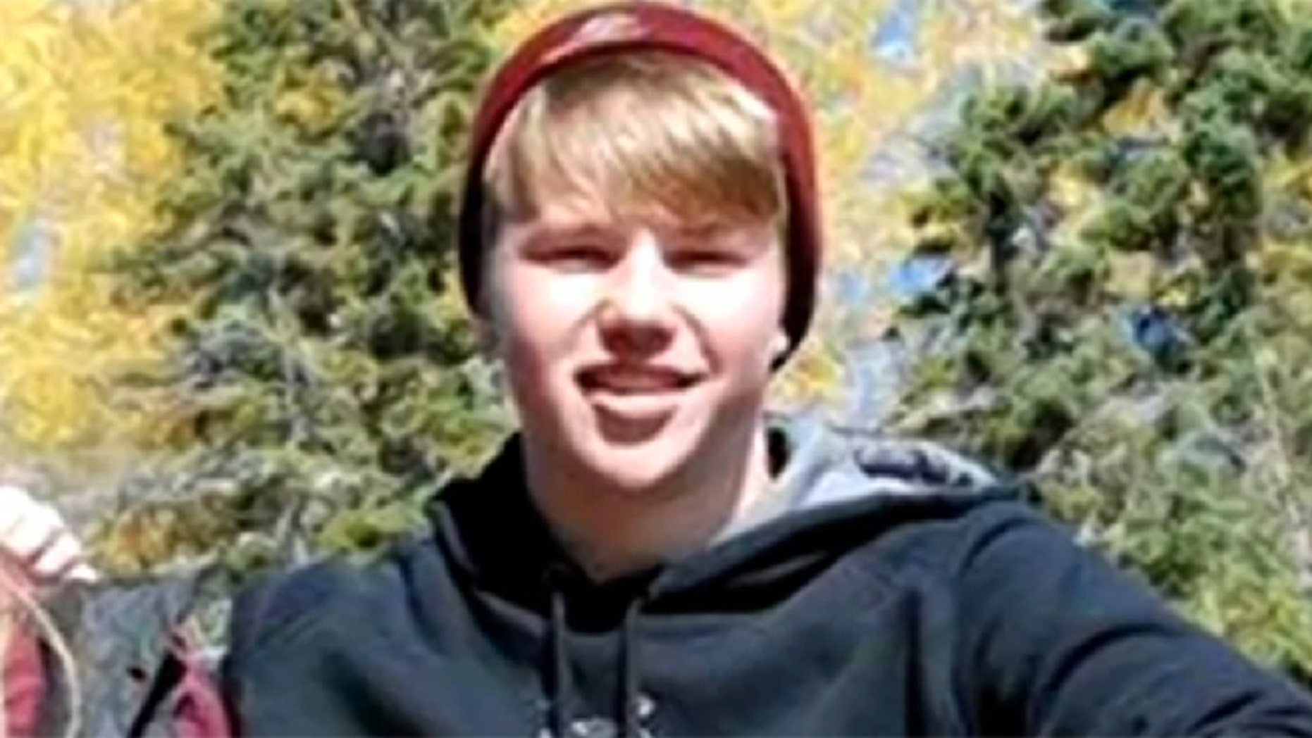 This undated photo shows 14-year-old Patrick Schoonover, who collapsed and died Friday following a hockey game.
