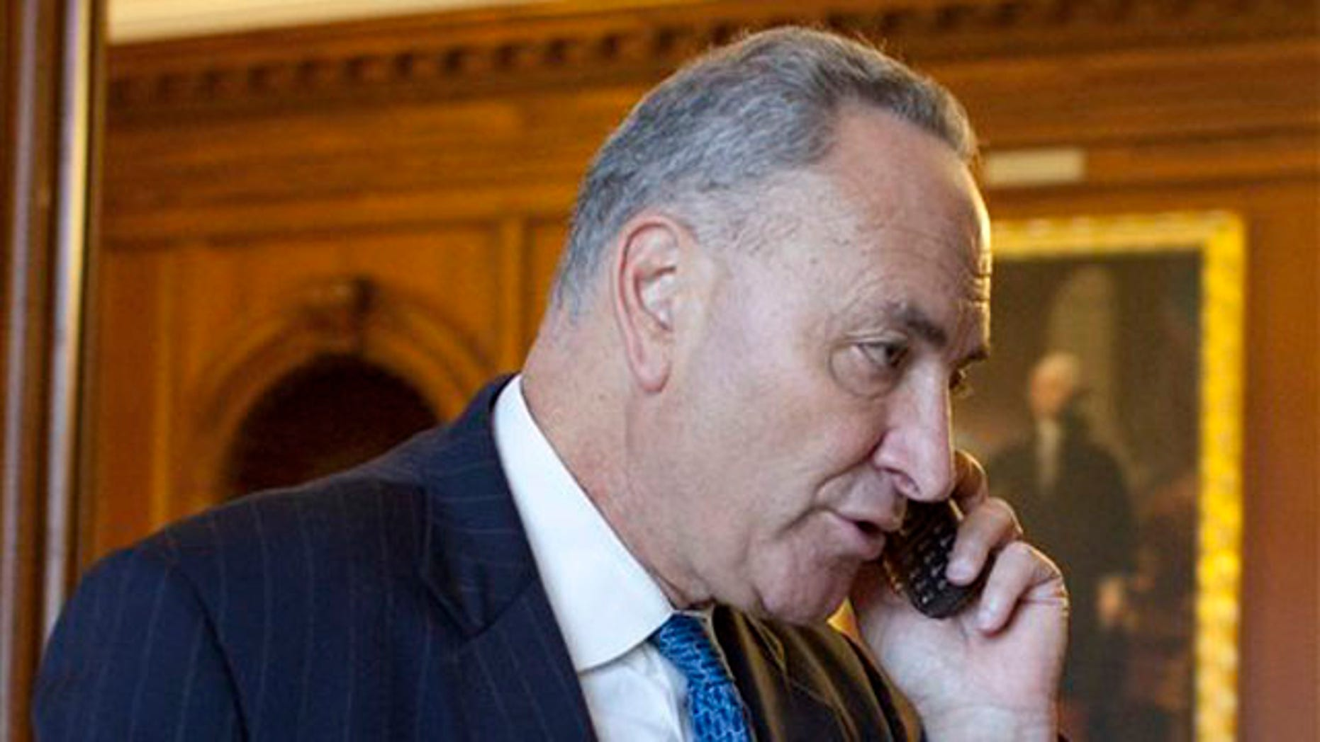 Sen. Charles Schumer enters the office of House Democratic Leader Nancy Pelosi on Capitol Hill in Washington July 31.