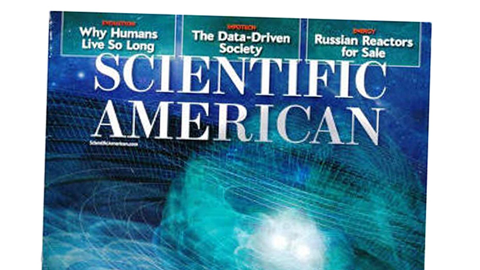 The Oct. 2013 issue of Scientific American magazine.
