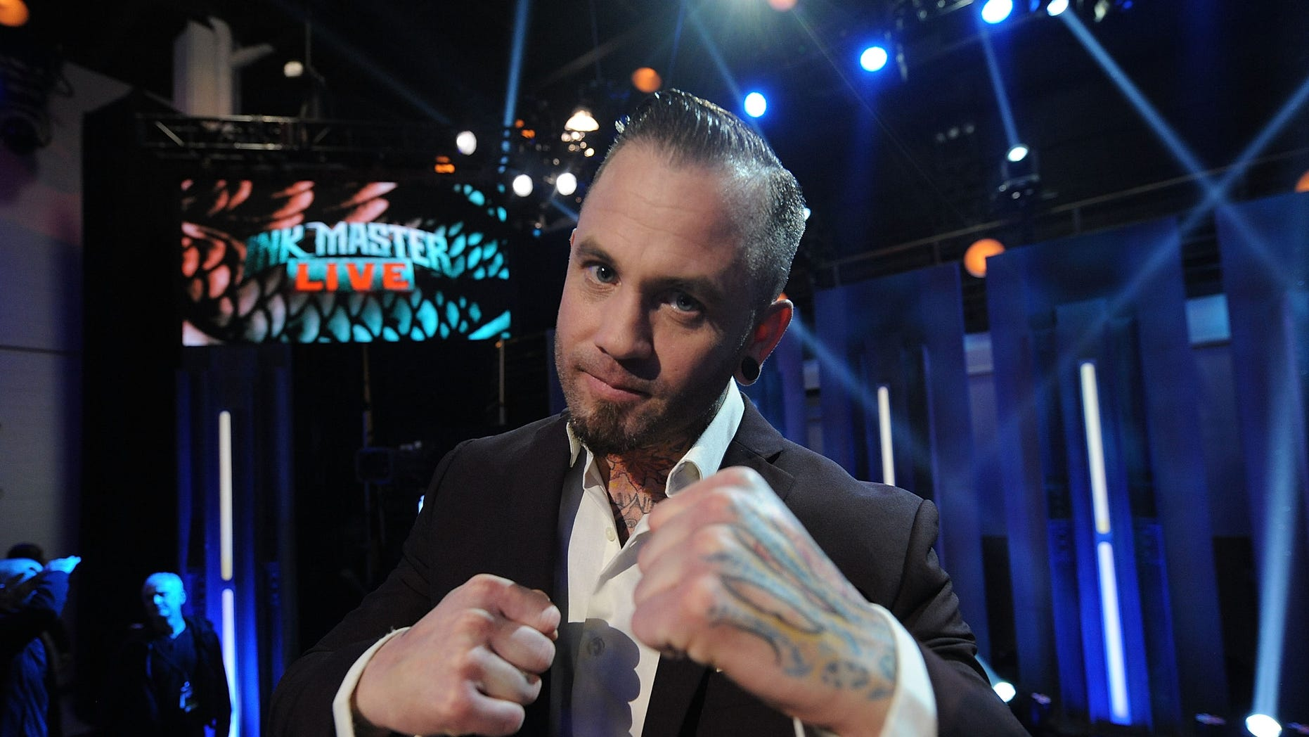 """Tattoo artist Scott Marshall from Chicago poses for a photo after winning Spike TV's """"Ink Master"""" Season 4 Finale at SIR Stage 37 on May 20, 2014 in New York City.  (Photo by Brad Barket/Getty Images for Spike TV)"""