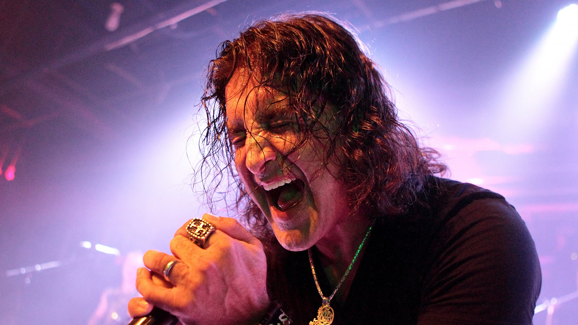 April 6, 2014. Scott Stapp, of the band Creed, performs solo in concert at Soundstage, in Baltimore.