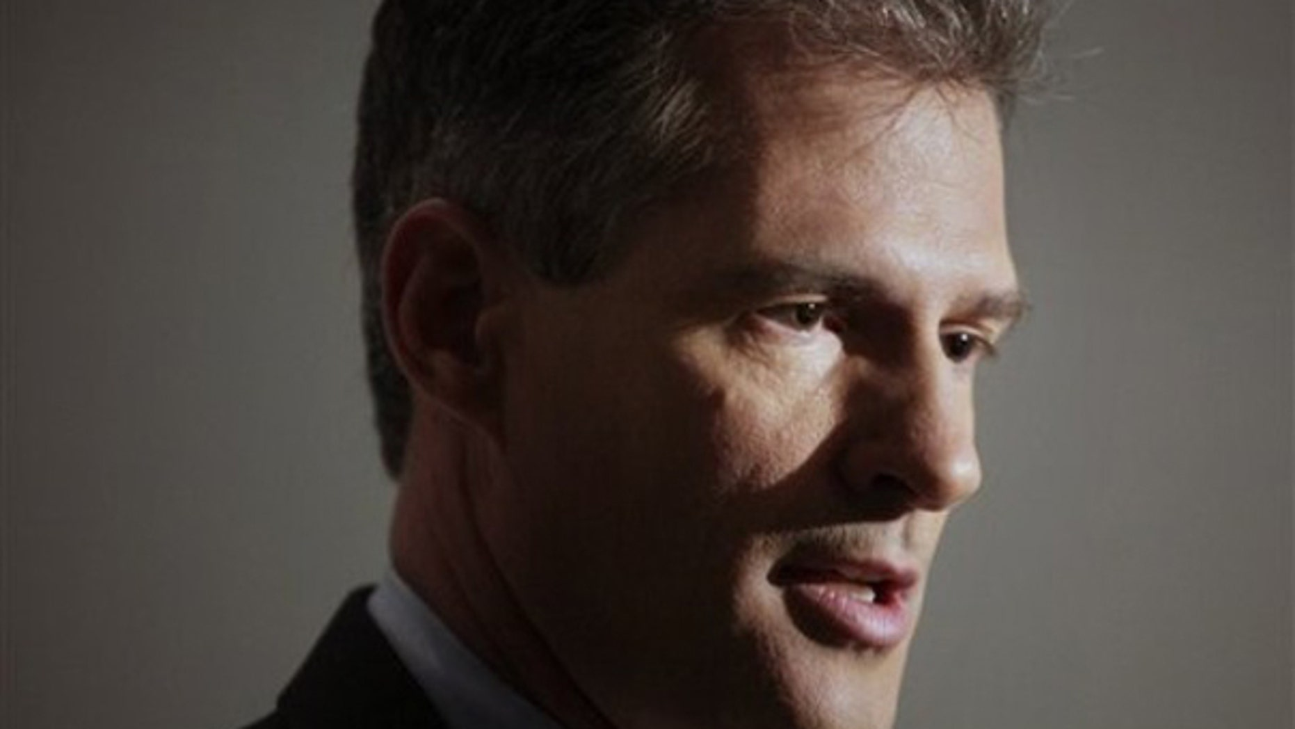 Republican hopeful in Senate race, State Rep. Scott Brown faces reporters moments after a debate recorded for a local television show in Boston, Monday, Dec. 7, 2009. (AP)