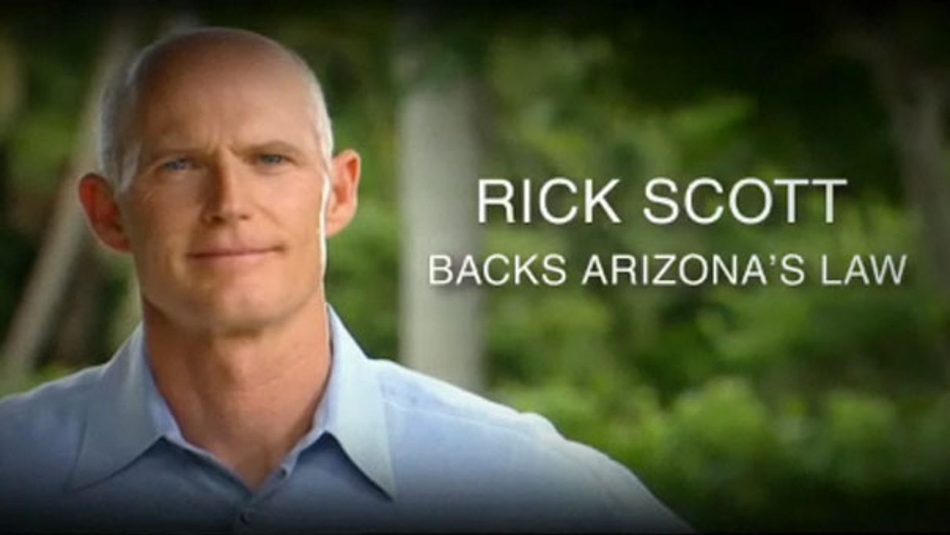 Florida Republican gubernatorial candidate Rick Scott is shown here in a campaign ad. (Rick Scott for Governor)