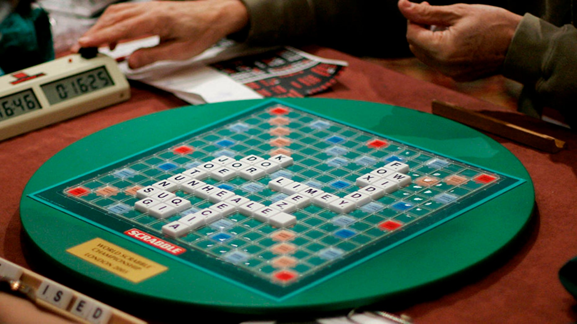Competitors take part in the World Scrabble Championships at an hotel in northwest London, Nov. 17, 2005.
