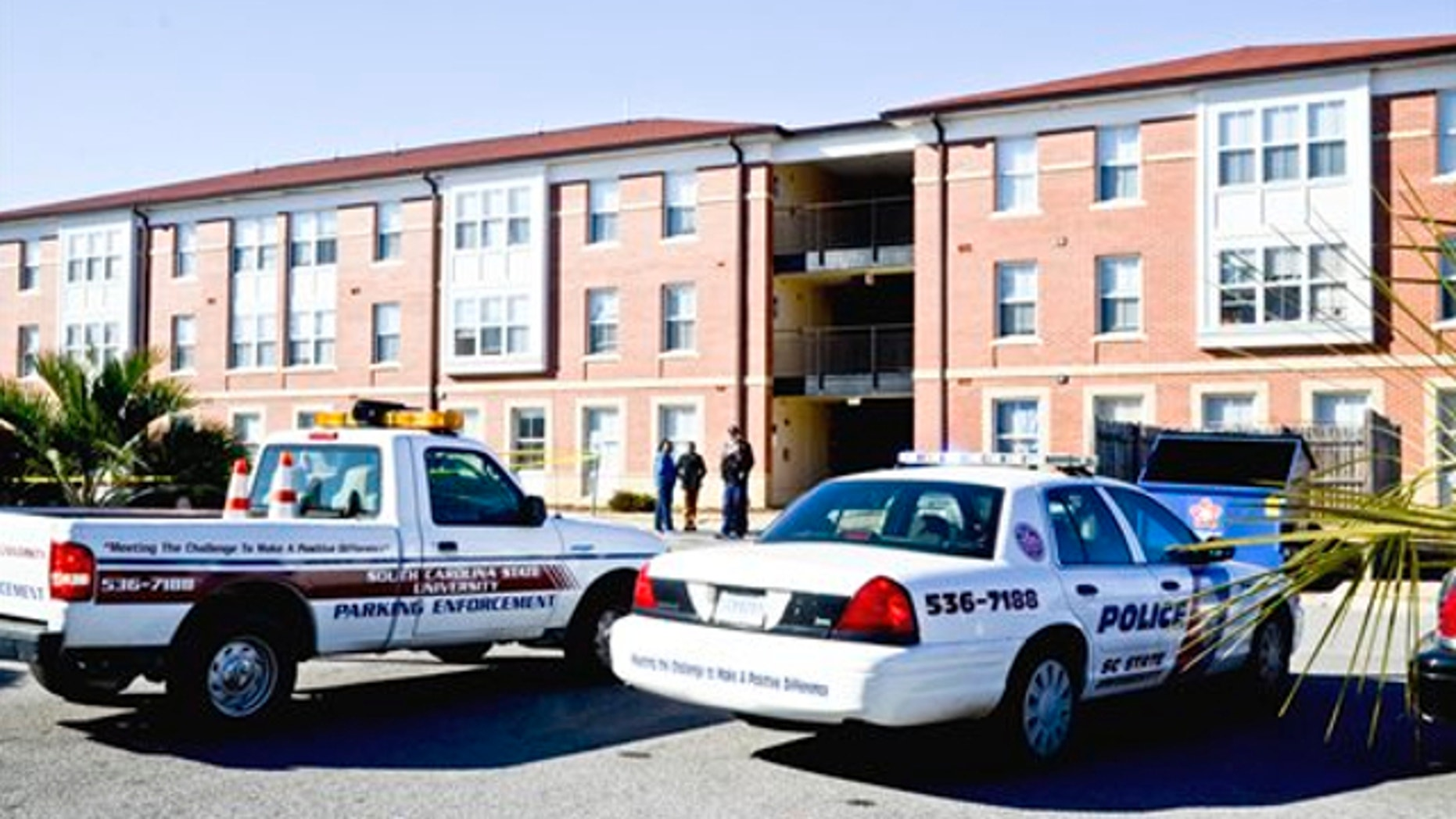 Jan. 24, 2014: S.C. State's Hugine Suites was the scene of a fatal shooting Friday. A student was shot and killed Friday outside an on-campus dormitory at South Carolina State University.