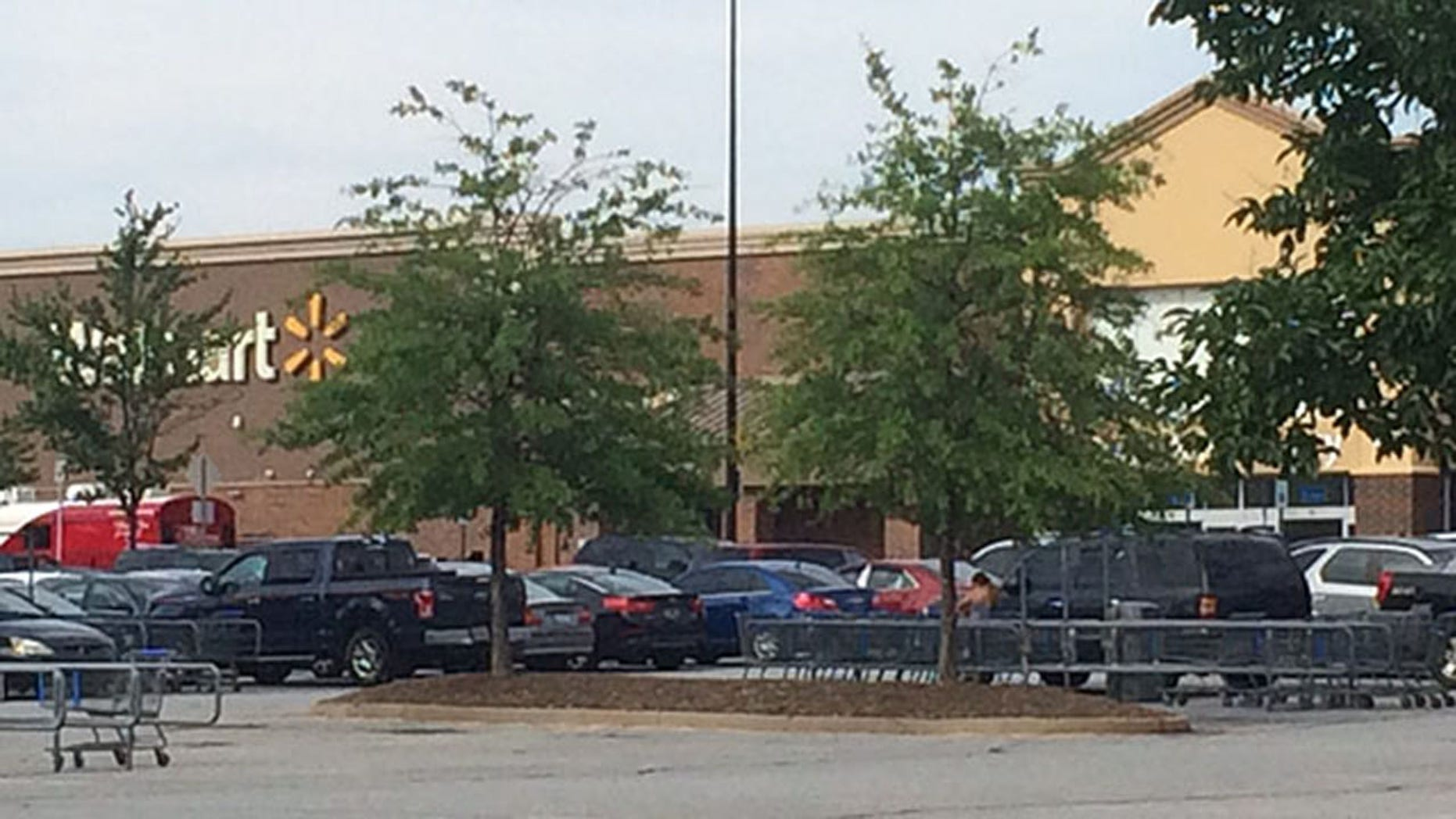 The Spartanburg Police Department said a child was left in a hot car outside a Walmart store.