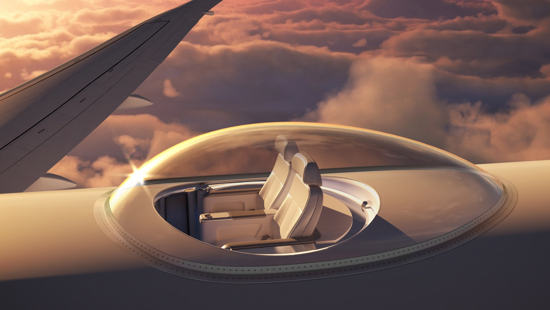 Sit high above it all in a transparent canopy that sits on top of the airplane.