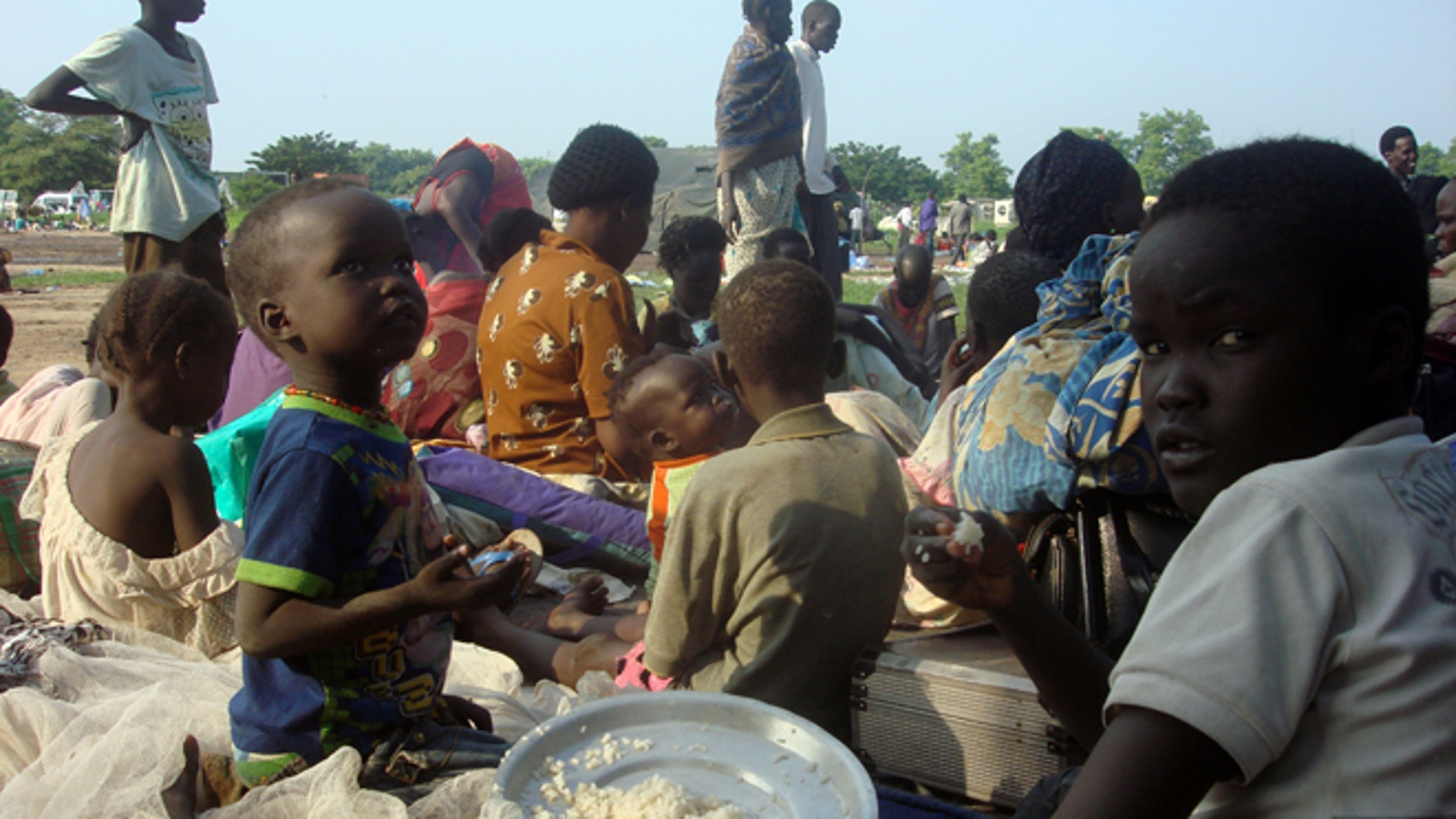 July 11: Displaced South Sudanese families seen in a camp for internally displaced people in the U.N. Mission in the country.