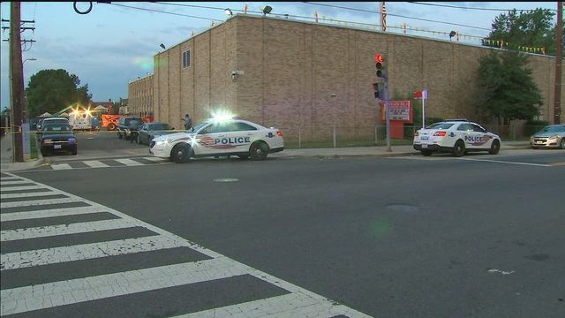 Police allegedly came under fire near an elementary school in Washington, D.C., early Tuesday.