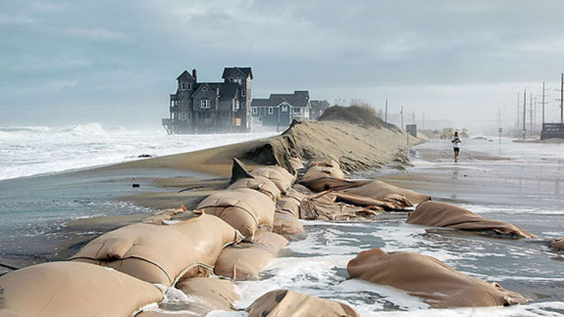 Sea level rise is swamping coasts; Rodanthe in the Outer Banks of North Carolina is pictured.