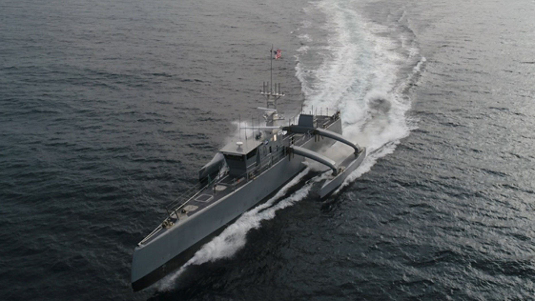 DARPA has successfully completed its Anti-Submarine Warfare (ASW) Continuous Trail Unmanned Vessel (ACTUV) program and has officially transferred the technology demonstration vessel, christened Sea Hunter, to the Office of Naval Research (ONR). (DARPA)