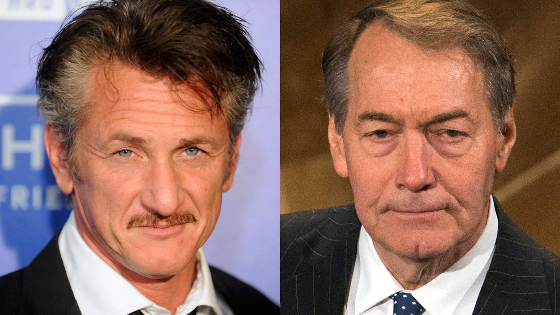 Sean Penn and Charlie Rose were spotted dinning out in New York City on on Wednesday night.